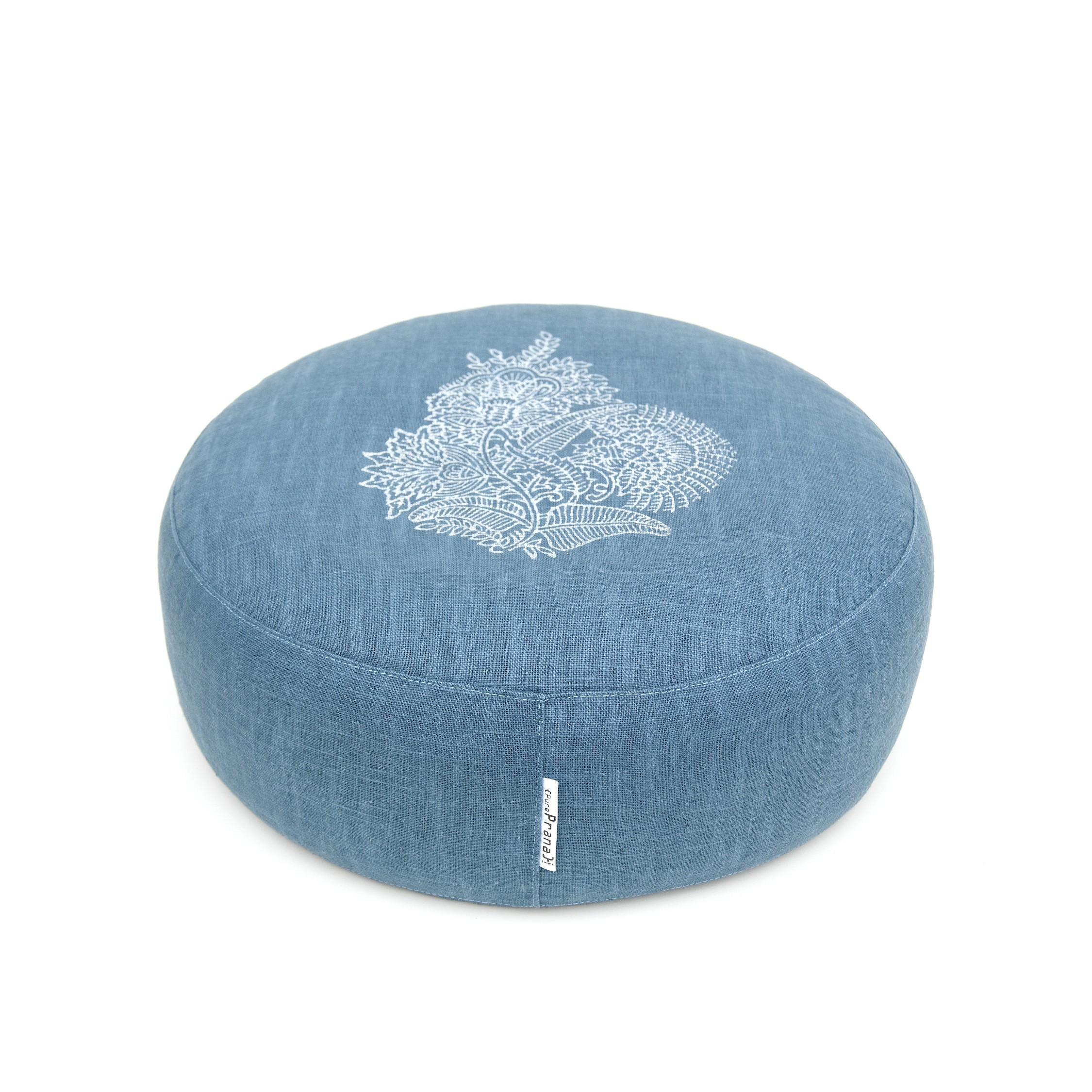 Royal blue flower meditation cushion