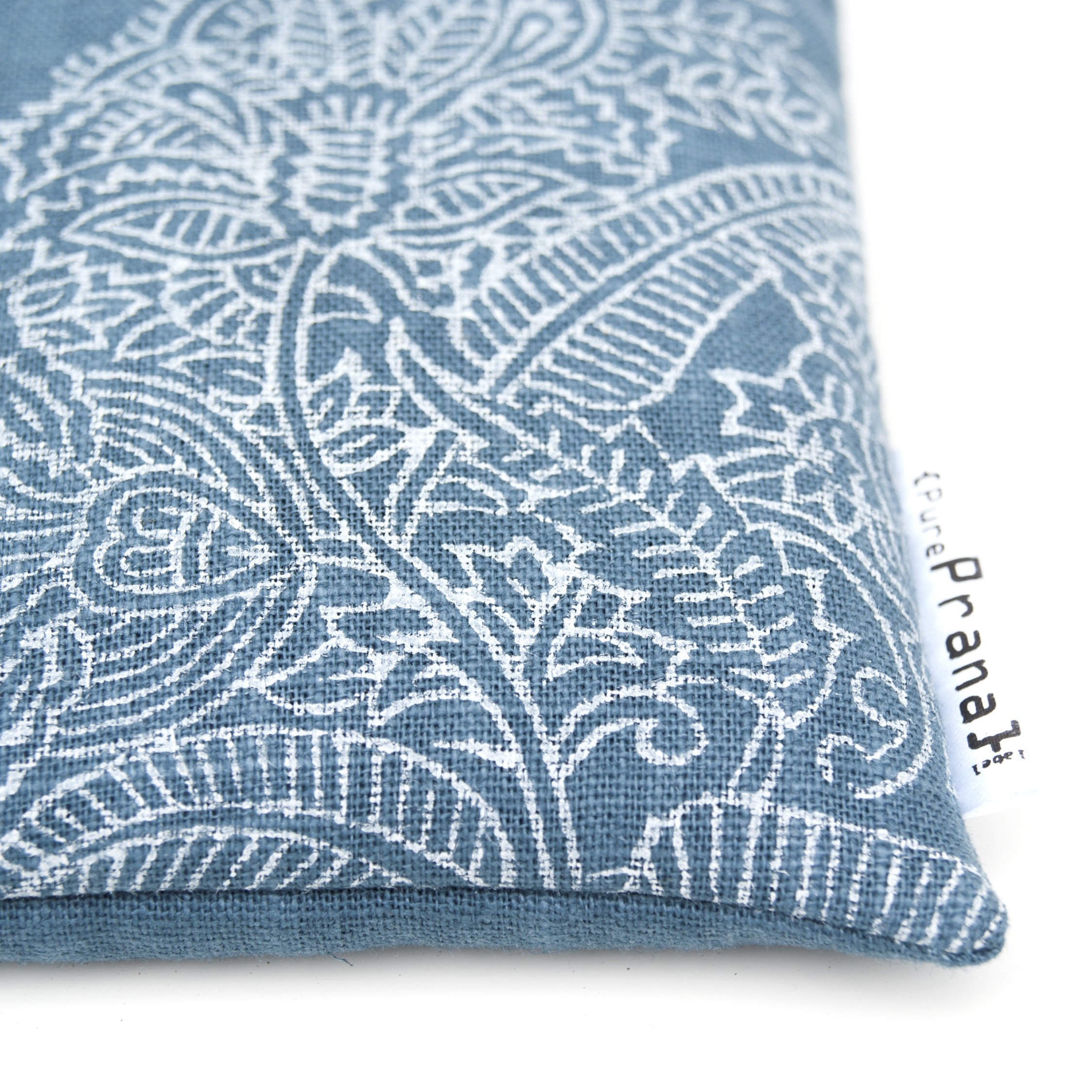 Print Singing bowl cushion Royal Blue Flower