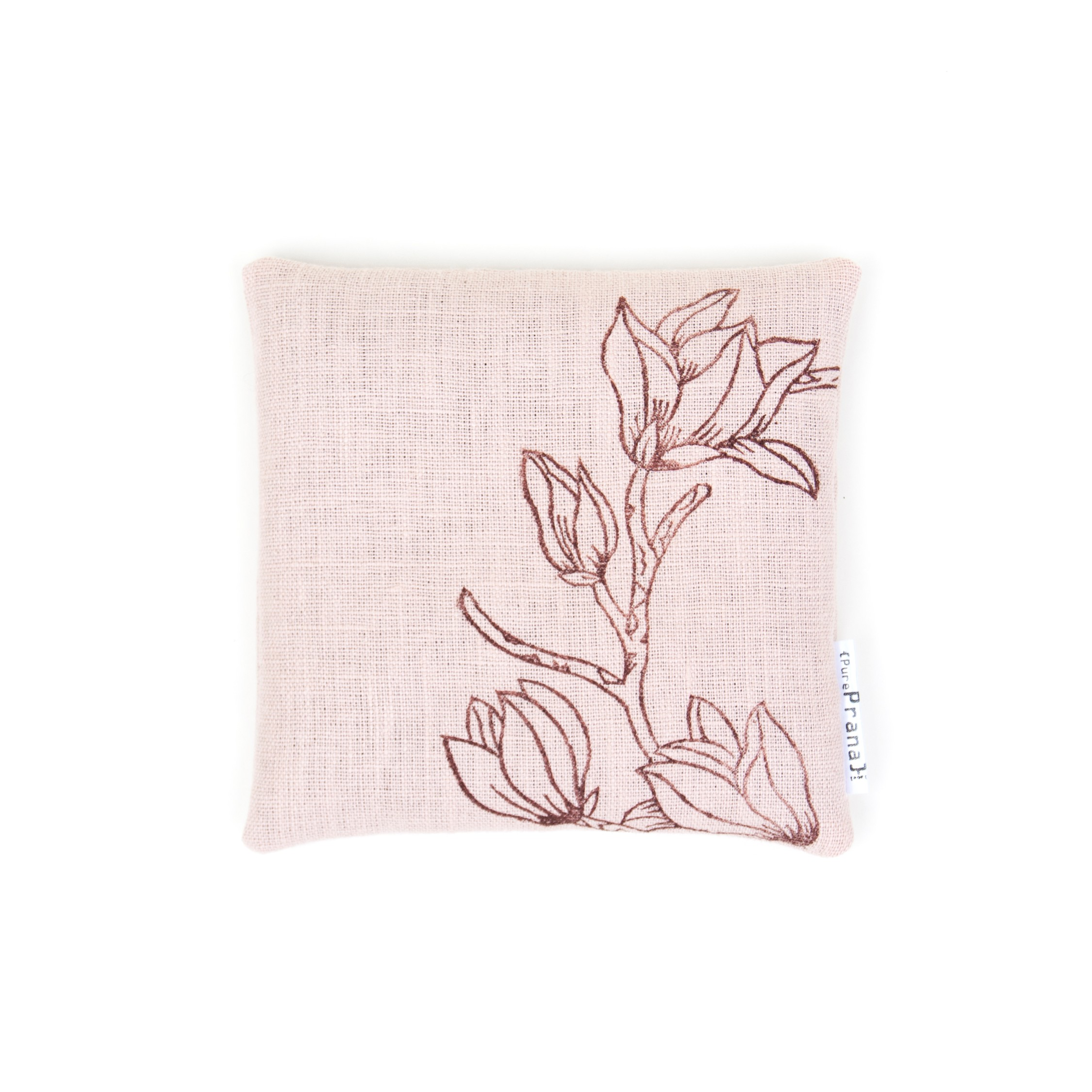 singing bowl cushion Magnolia by Pure Prana Label
