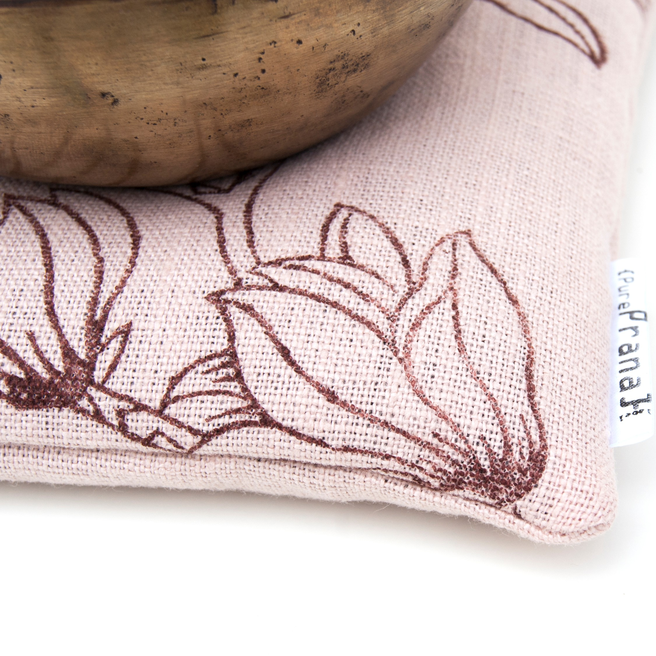 Magnolia singing bowl cushion