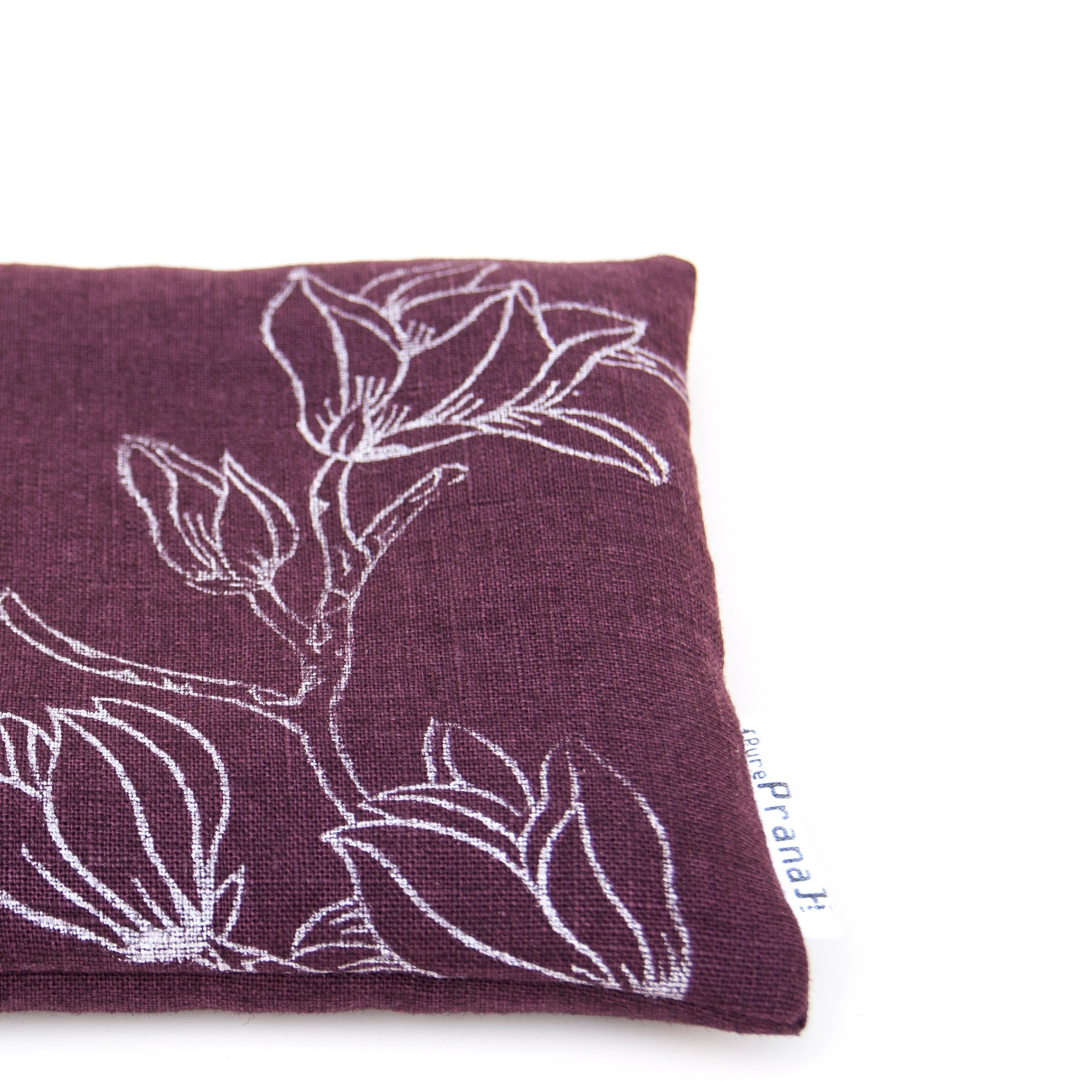 Singing bowl cushion Eggplant Magnolia