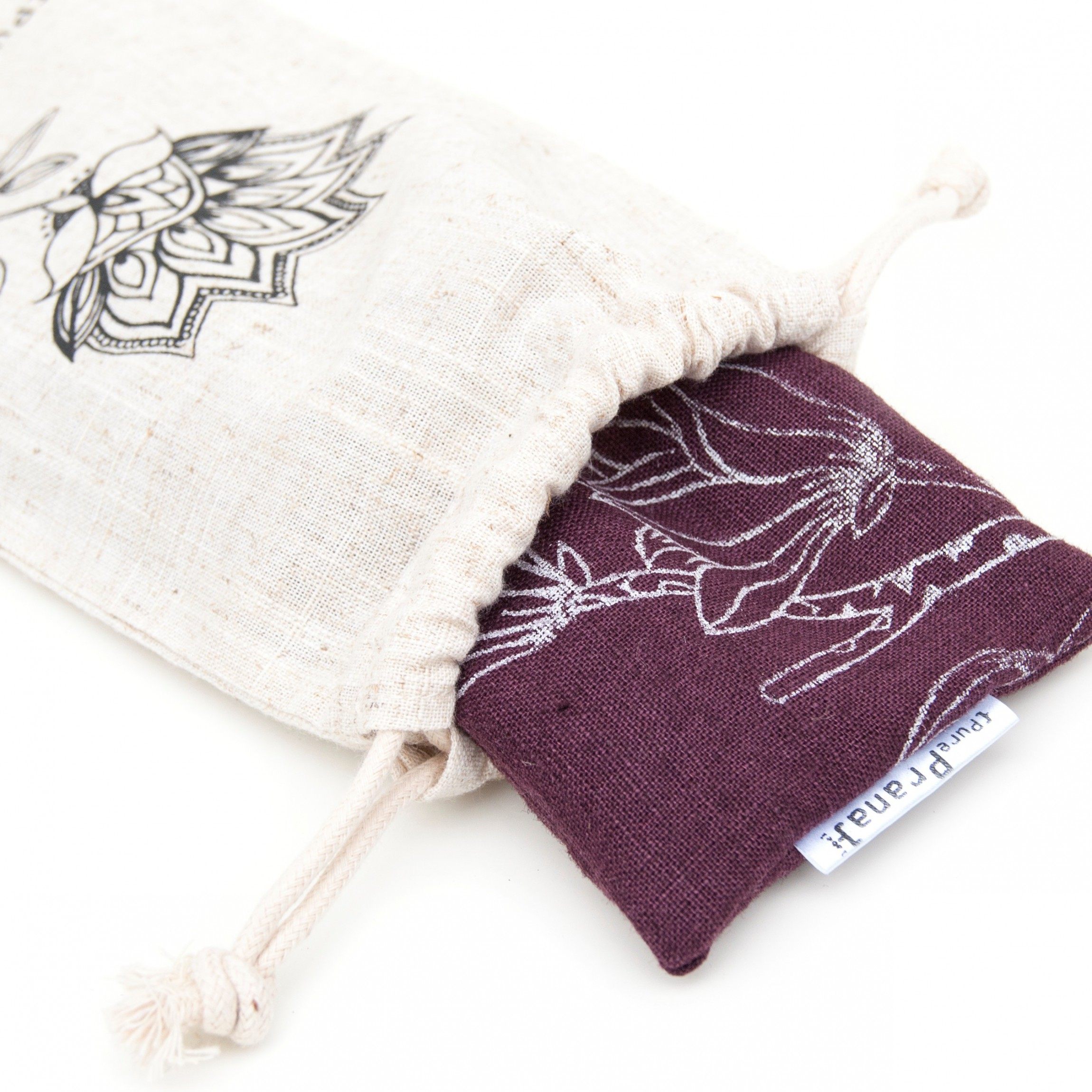 Eye pillow Magnolia in pouch by Pure Prana Label
