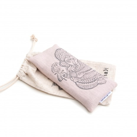Yoga eye pillow light pink Ganesh
