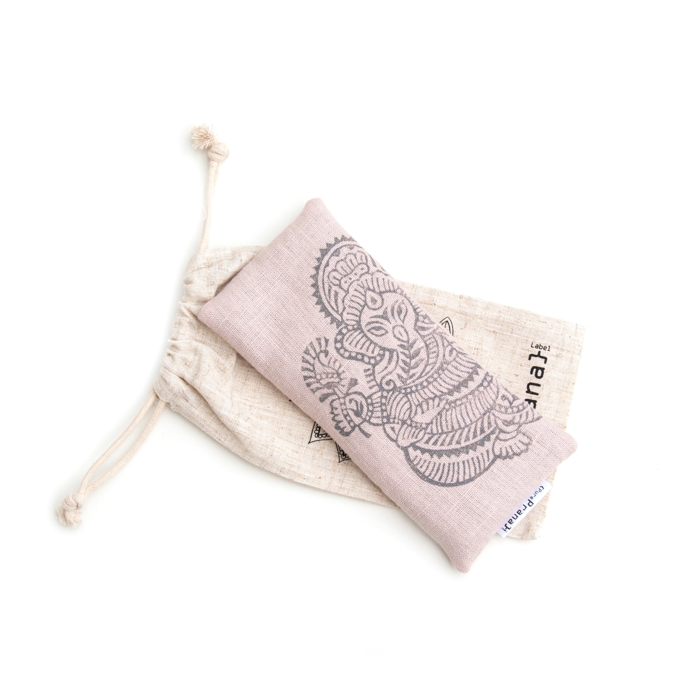 Lavender eye pillow light pink Ganesh