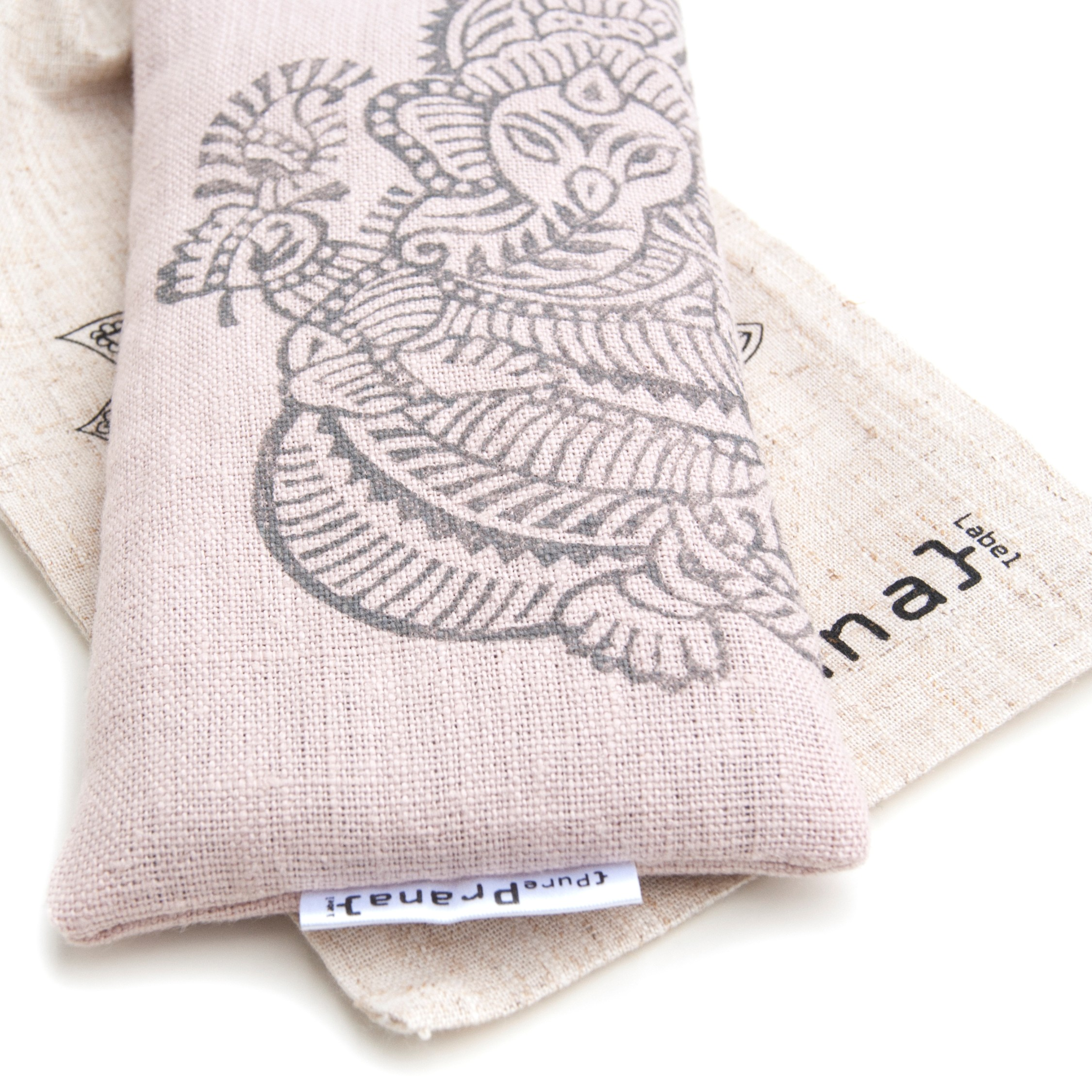 Yoga eye pillow Ganesh in pink
