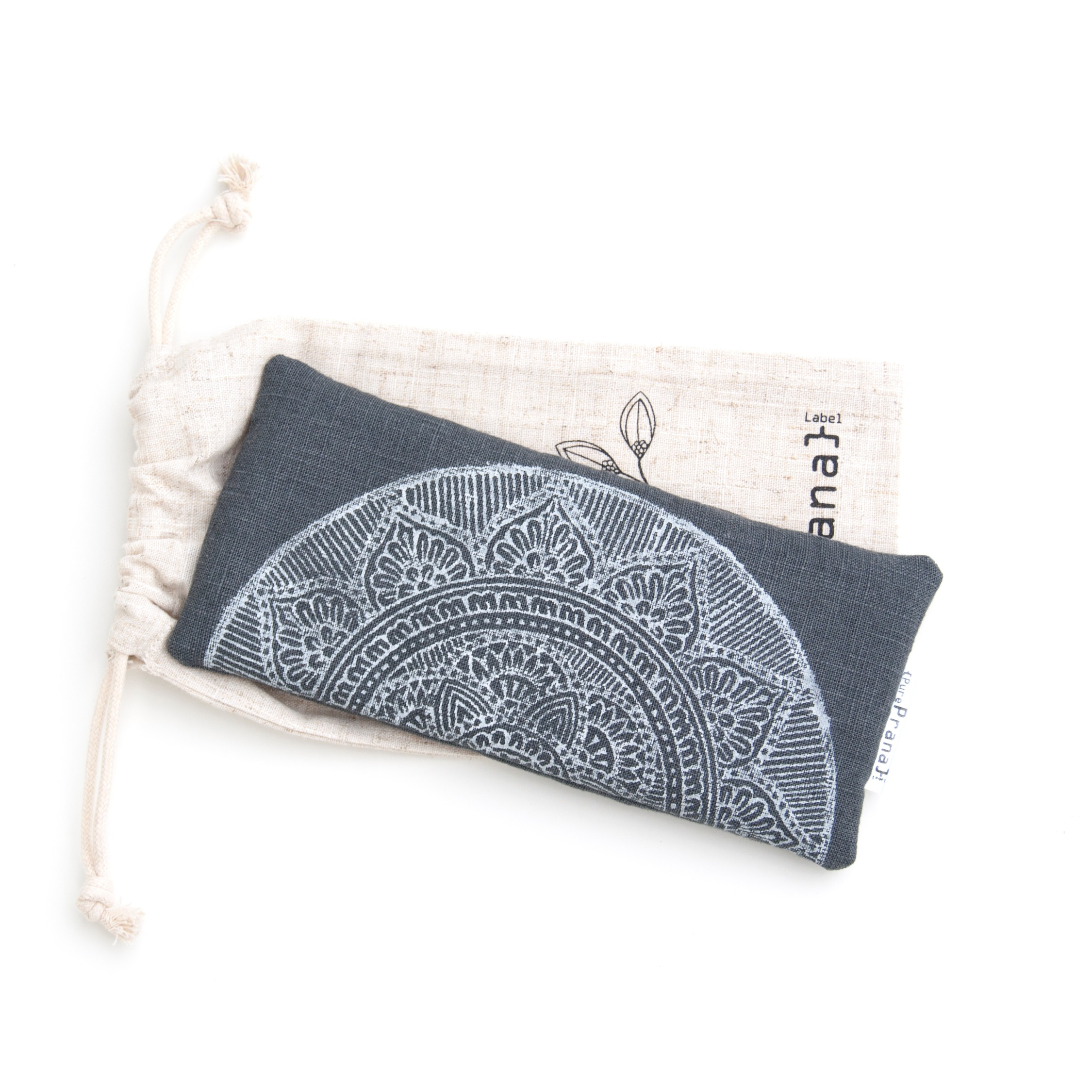 Yoga eye pillow mandala in dark gray by Pure Prana Label