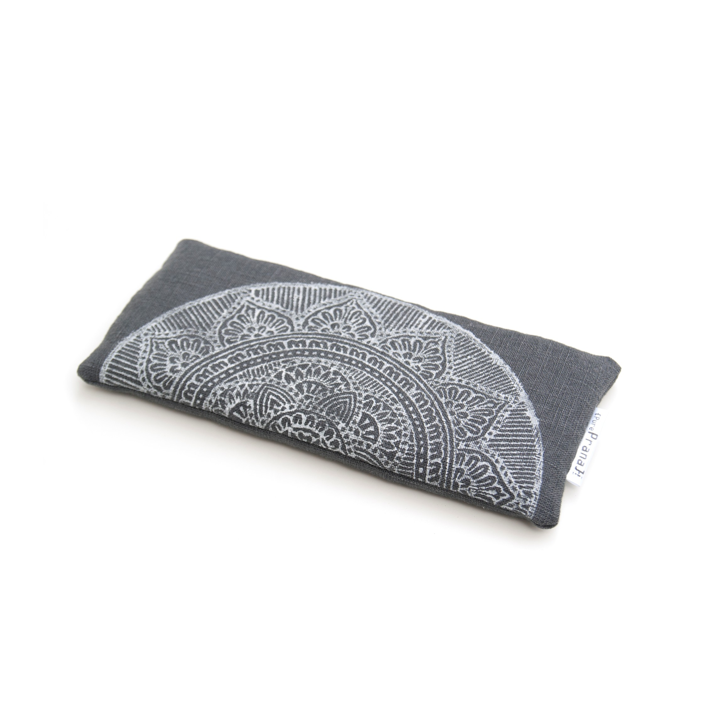 Lavender eye pillow Mandala in dark gray by Pure Prana Label