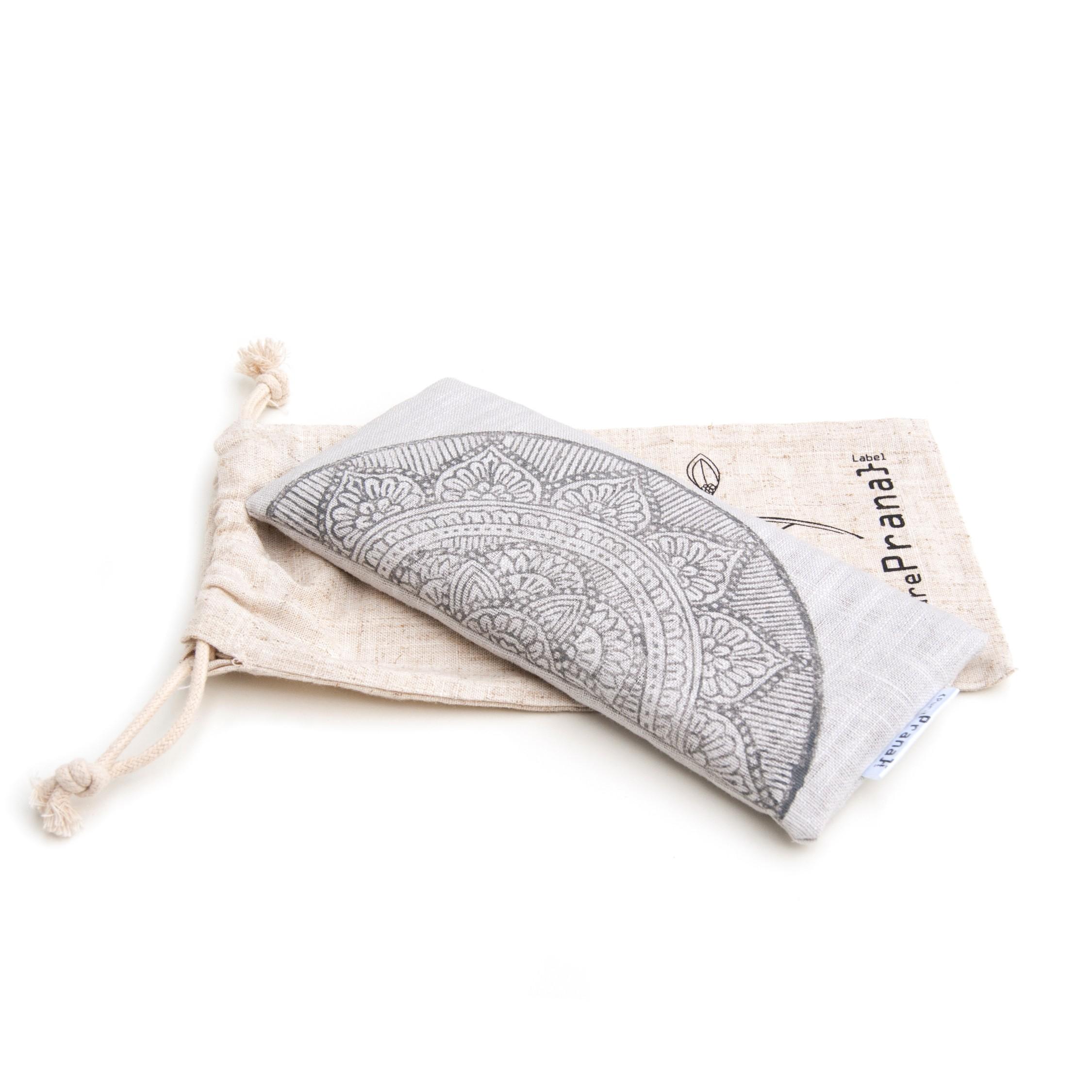 Mandala eye pillow Ligh gray by Pure Prana Label