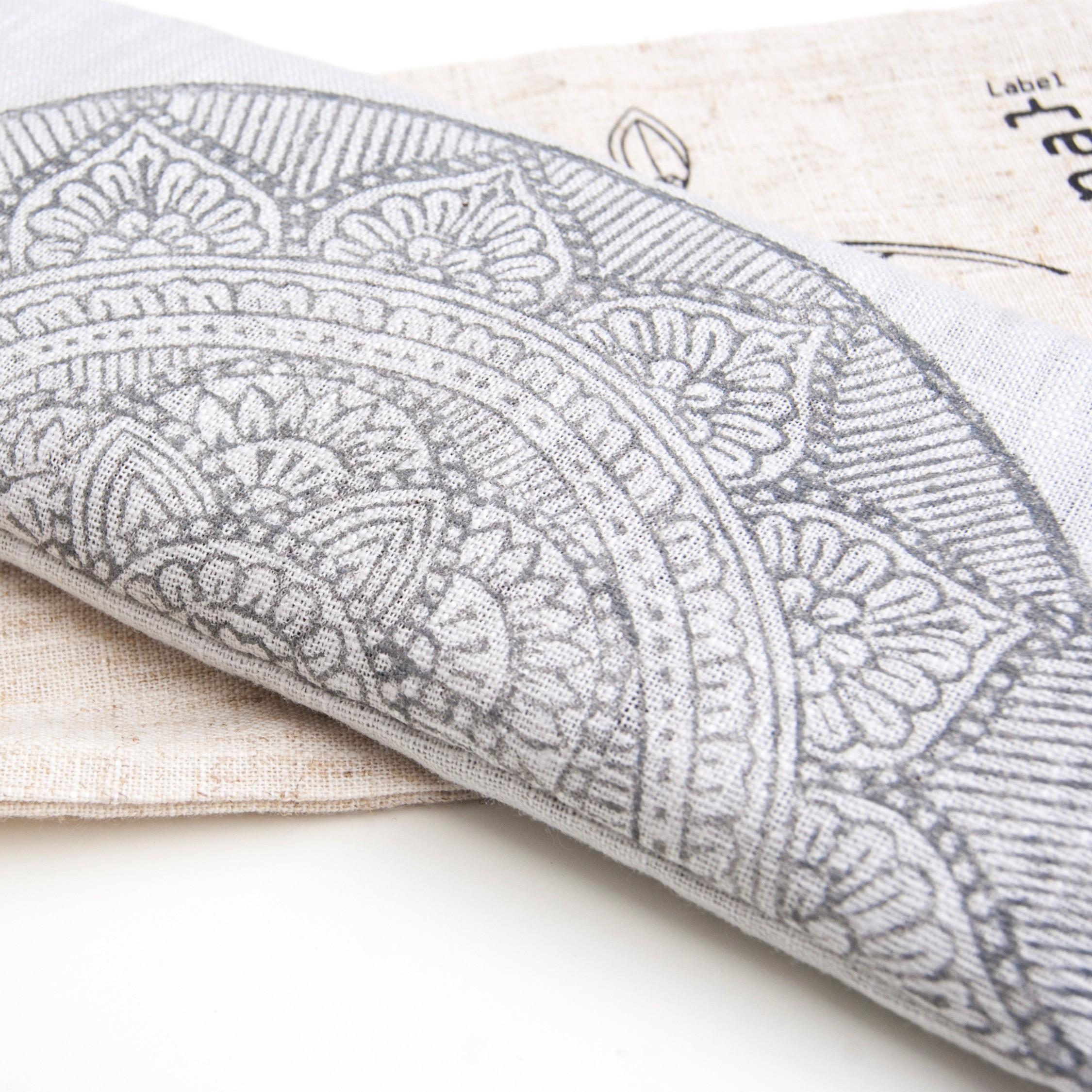 Mandala print on eye pillow by Pure Prana Label