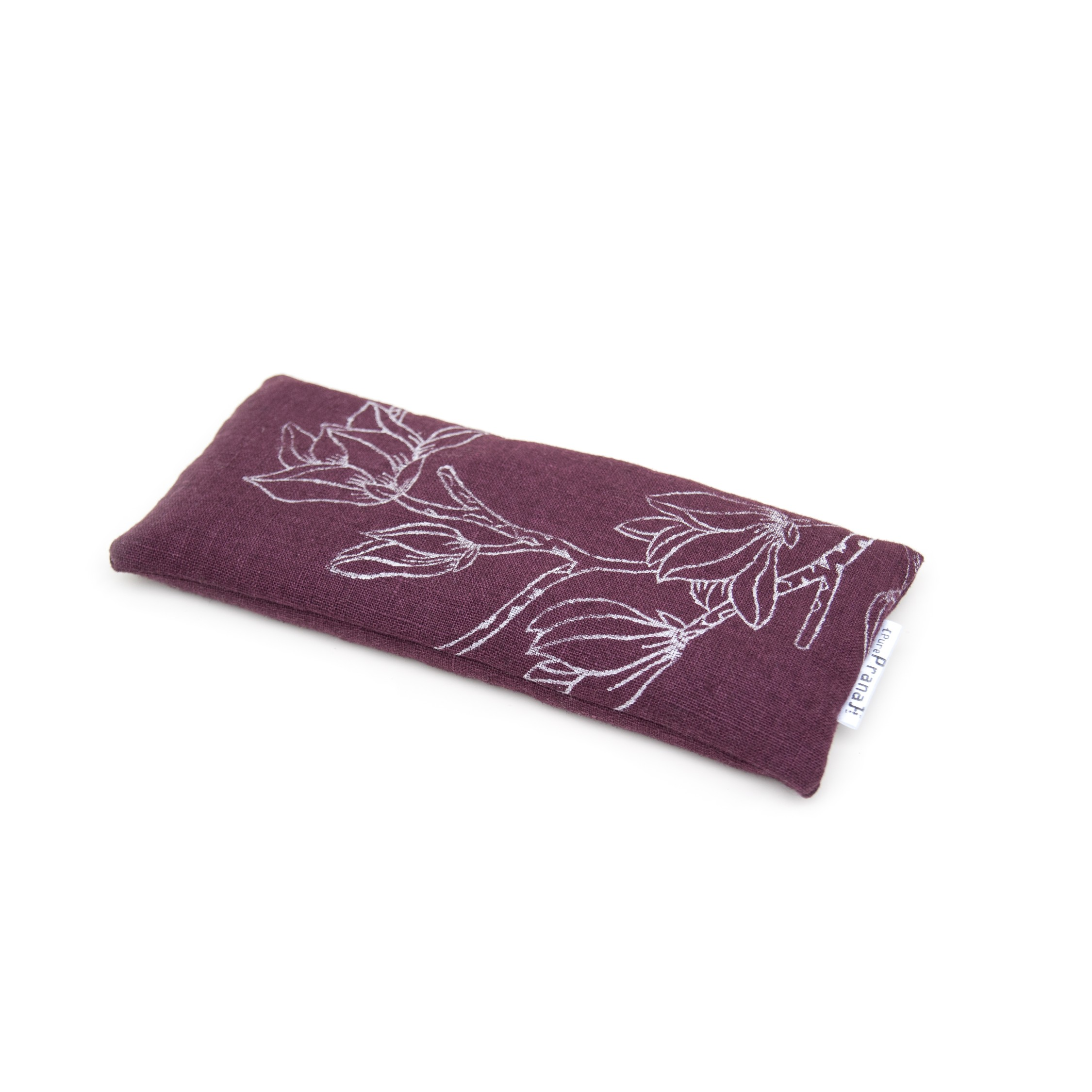 Lavender eye pillow Magnolia in eggplant