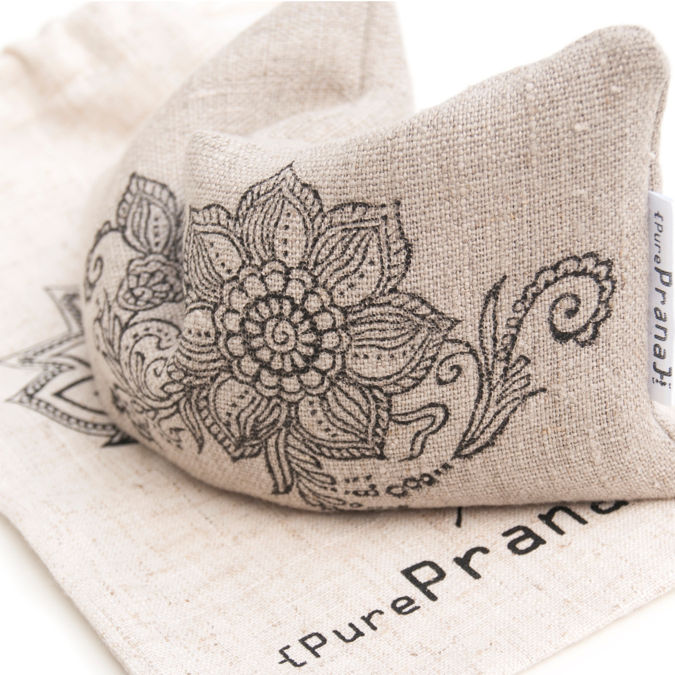 Yoga eye pillow Mehndi Flower
