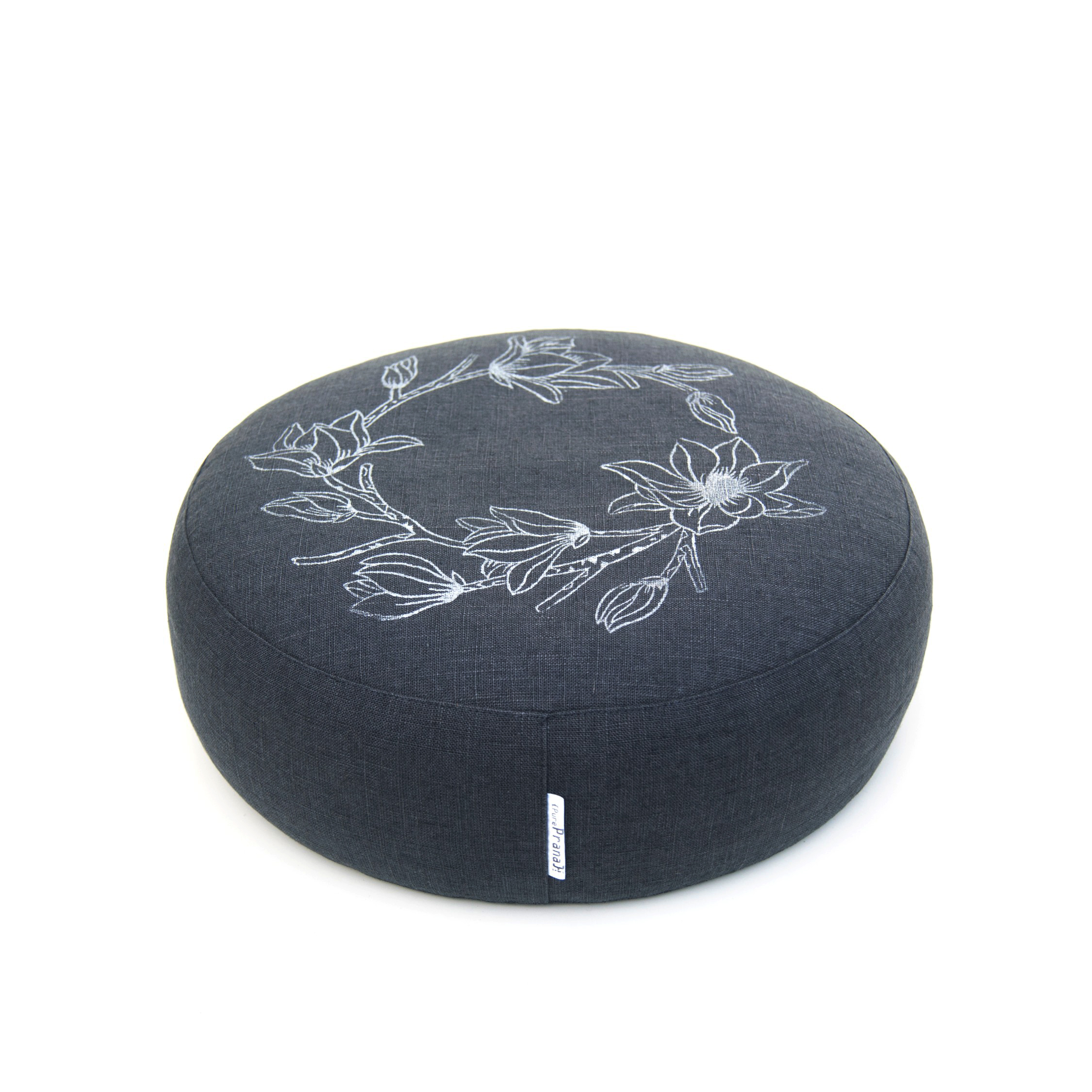 Meditation cushion Magnolia in dark gray