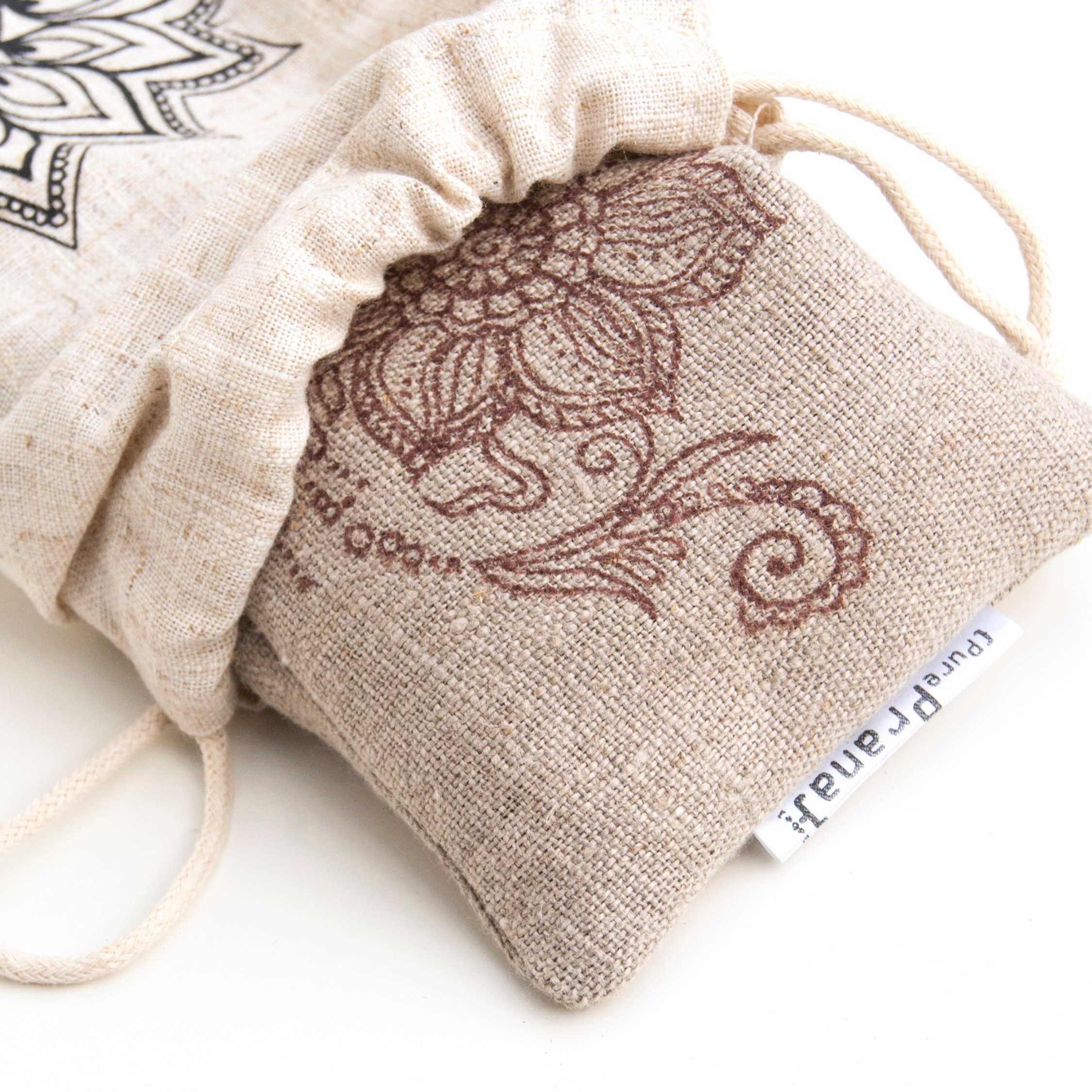 Yoga eye pillow flax linen