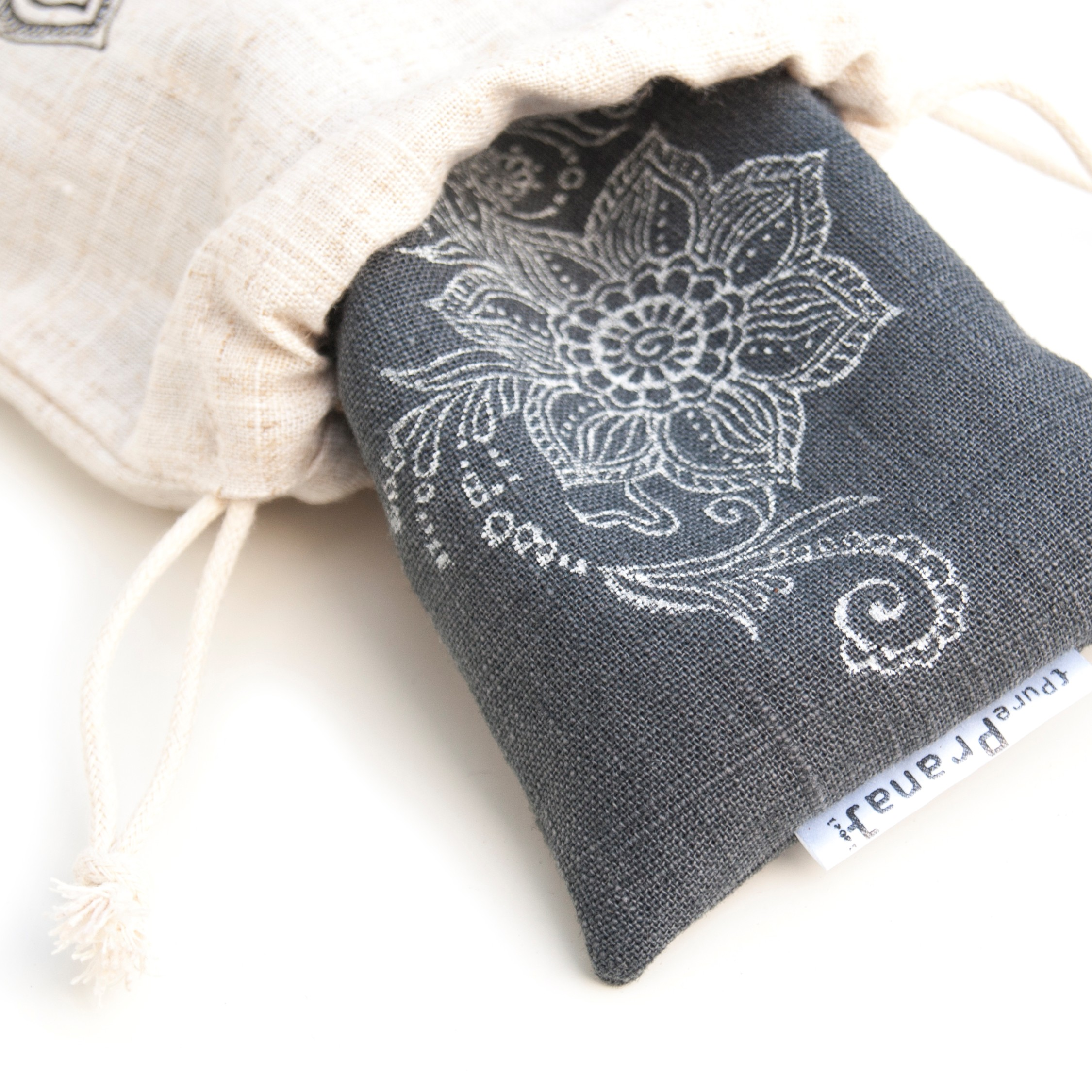 Lavender eye pillow Mehndi Floral comes with a pouch