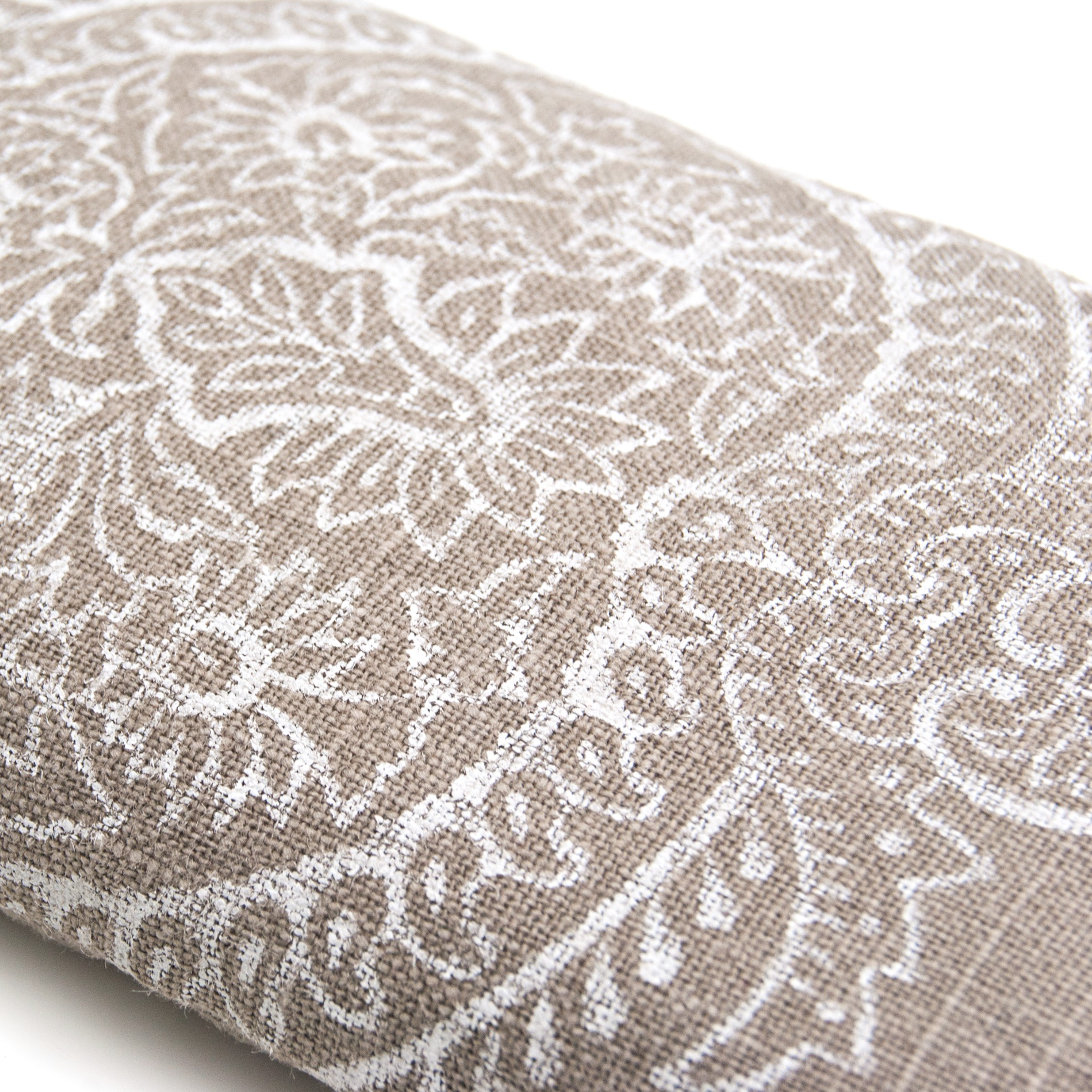 Indian flower print on the crystal filled eye pillow by Pure Prana Label