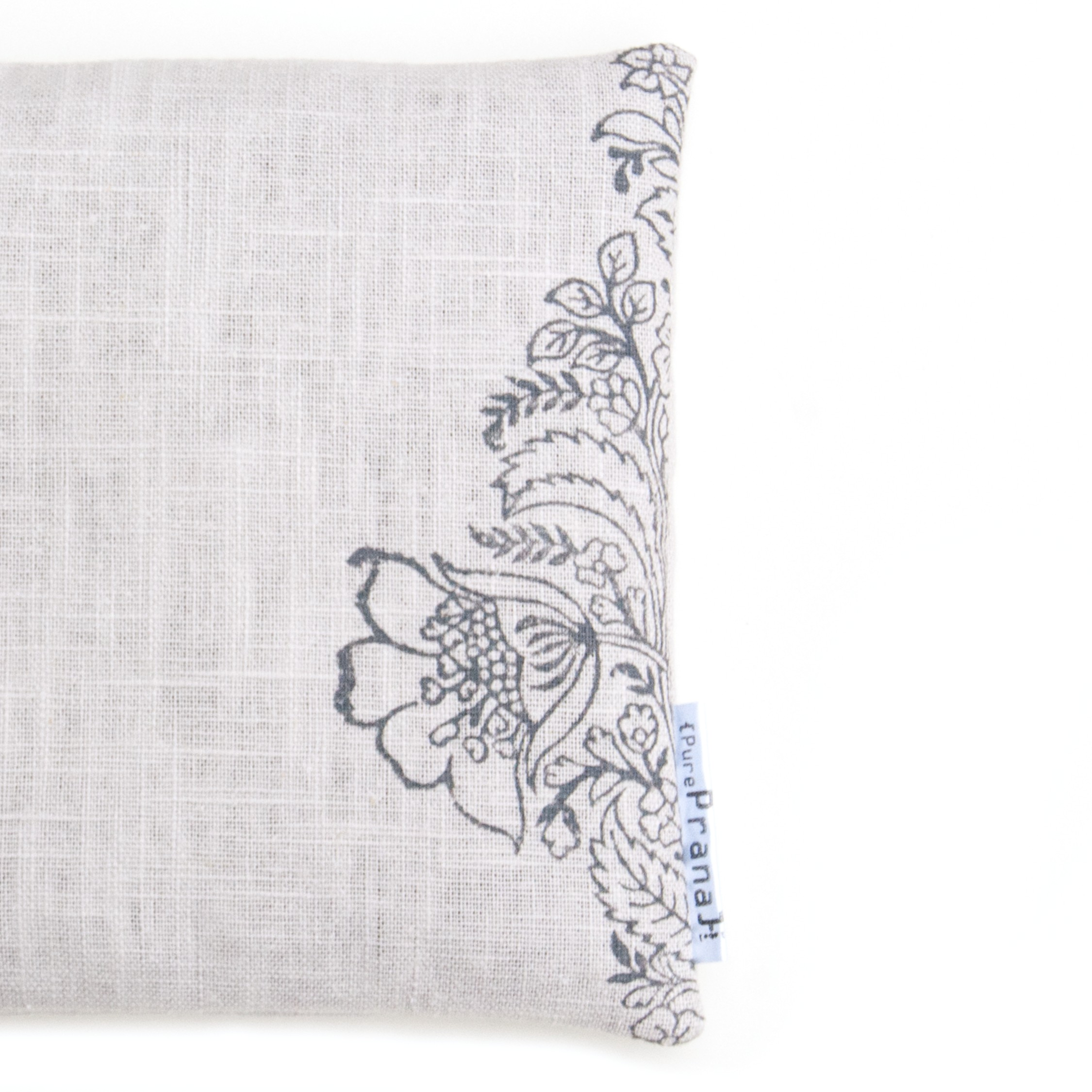 Right side singing bowl cushion Ethnic flower by Pure Prana Label