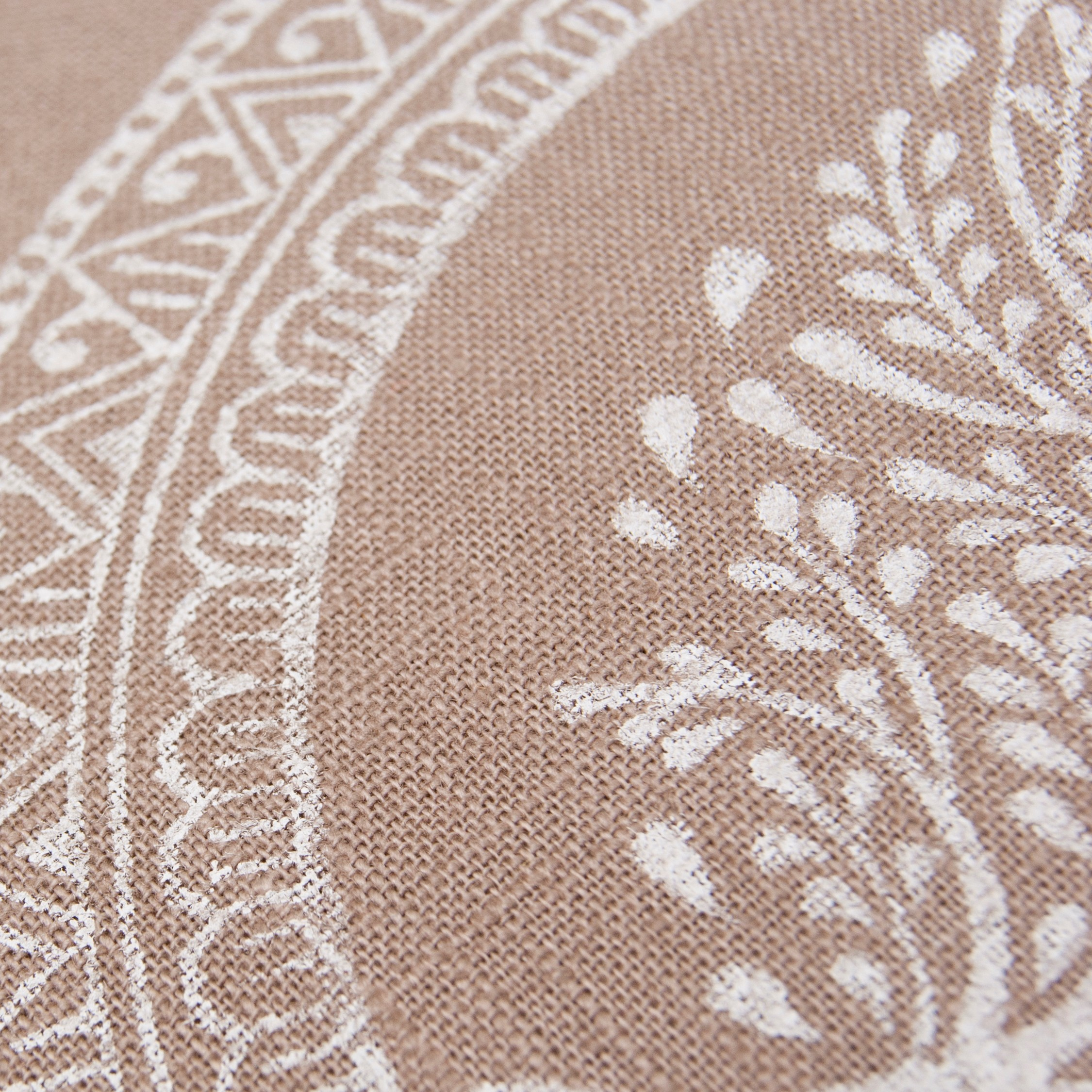 Close up Tree of Life handprinted meditation cushion