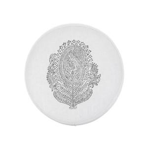 Light gray Paisley meditation cushion by Pure Prana Label