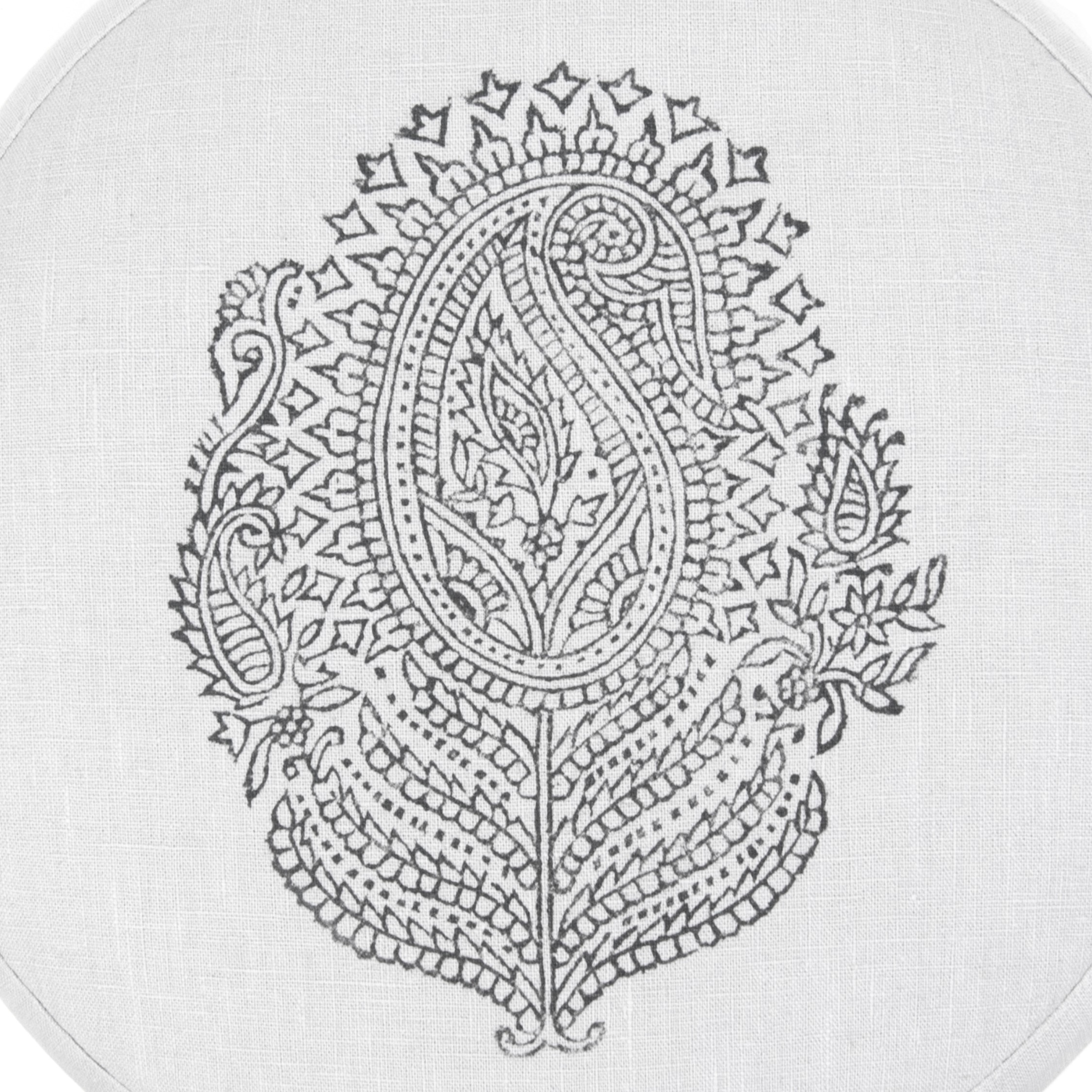 Light gray Paisley printed meditation cushion