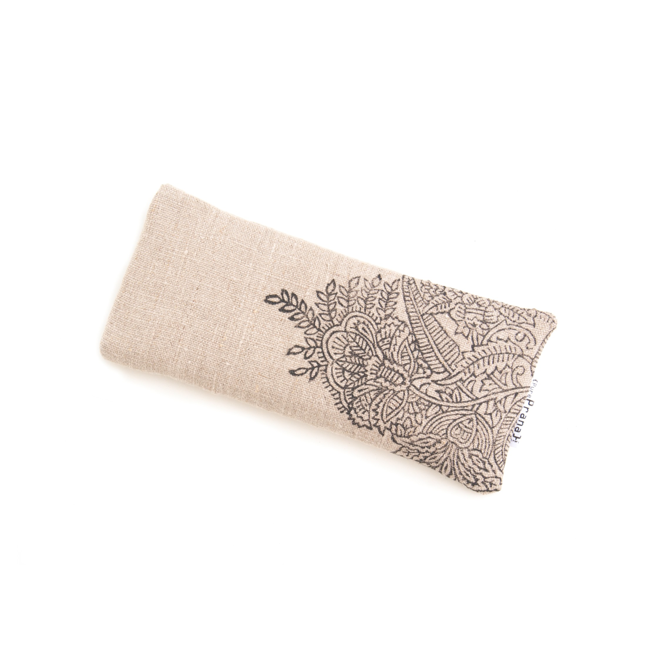 Lavender eye pillow by Pure Prana Label, filled with amethyst quartz.
