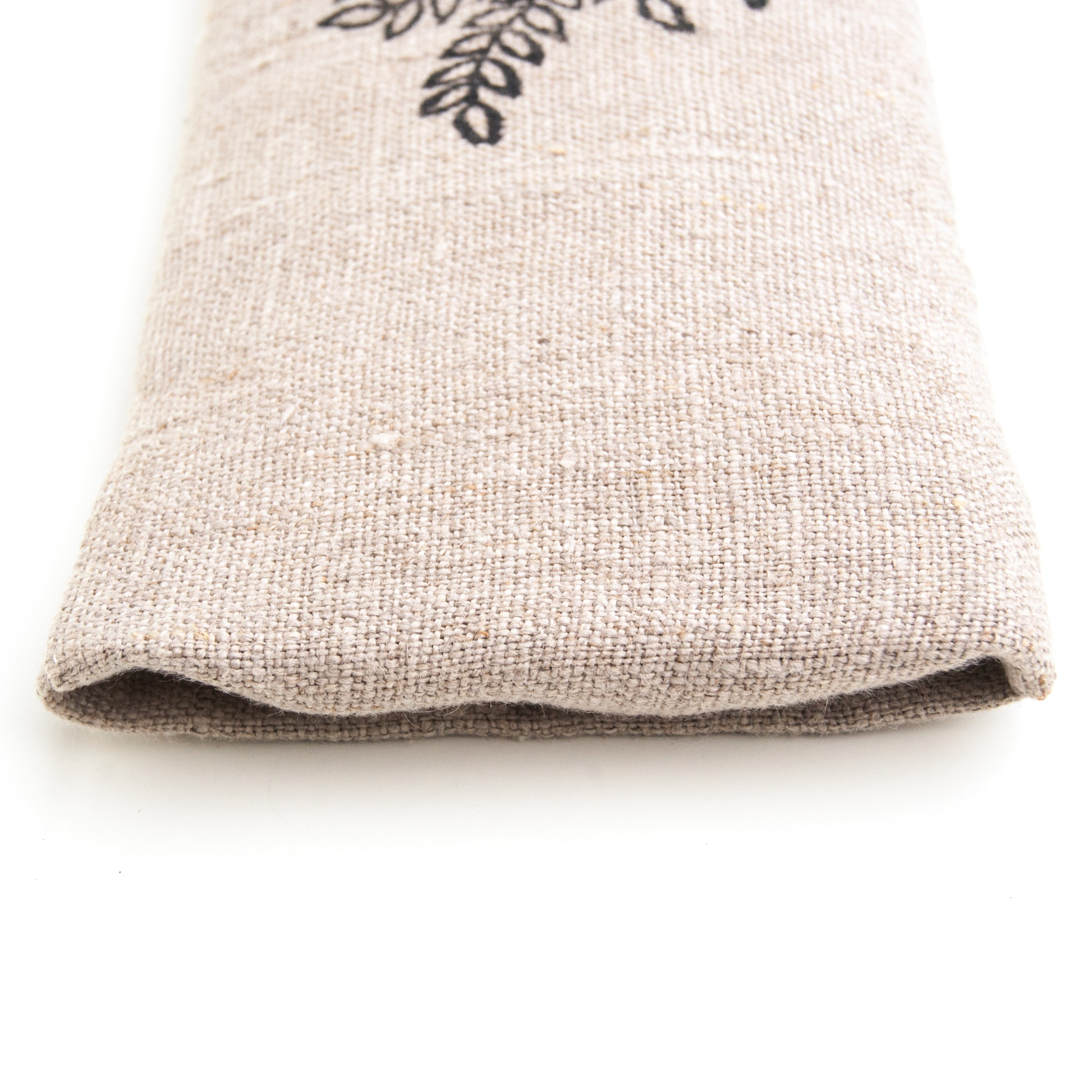 Envelope closure on the amethyst filled eye pillow