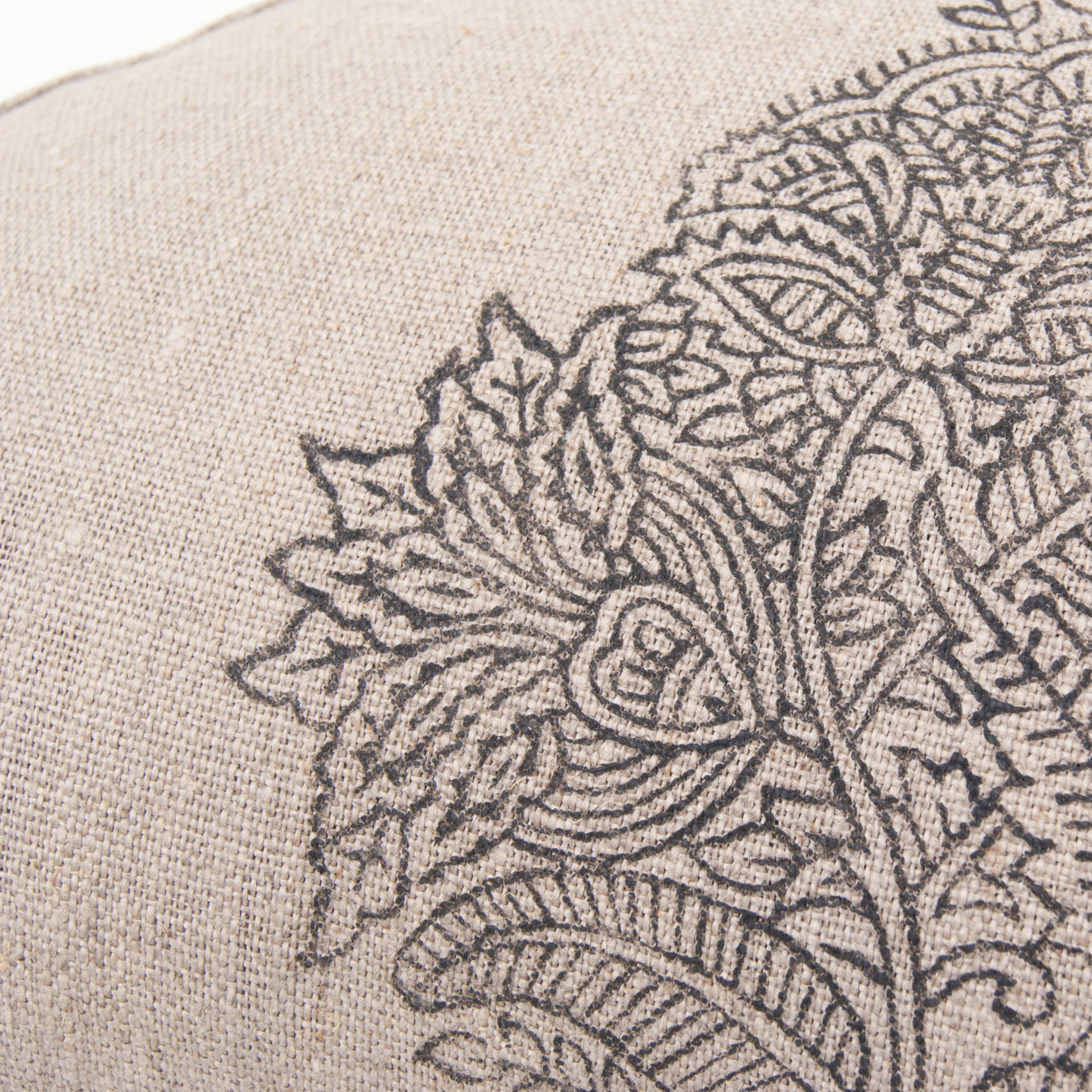 Stunning floral print on half moon meditation cushion by Pure Prana Label