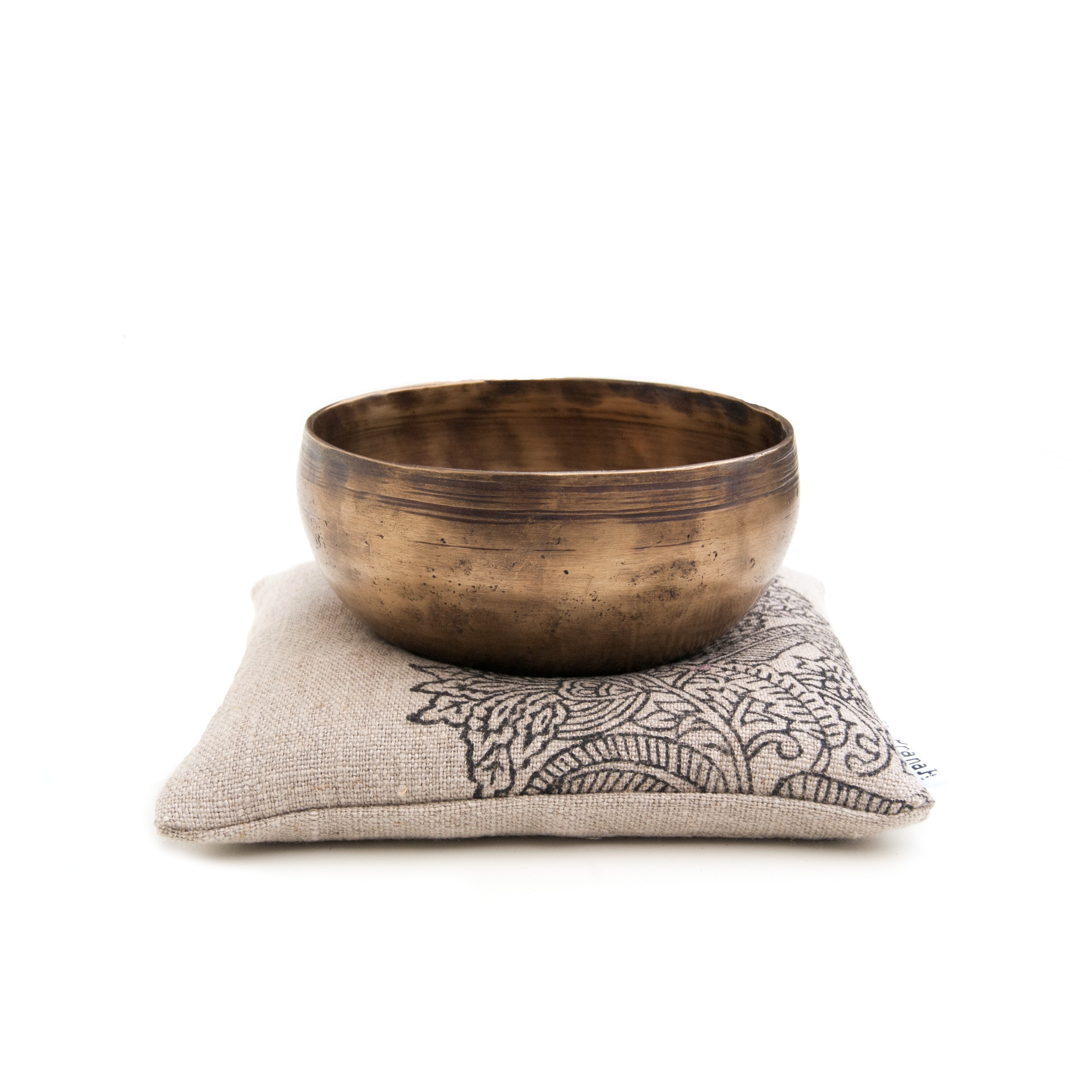 Natural singing bowl cushion by Pure Prana Label