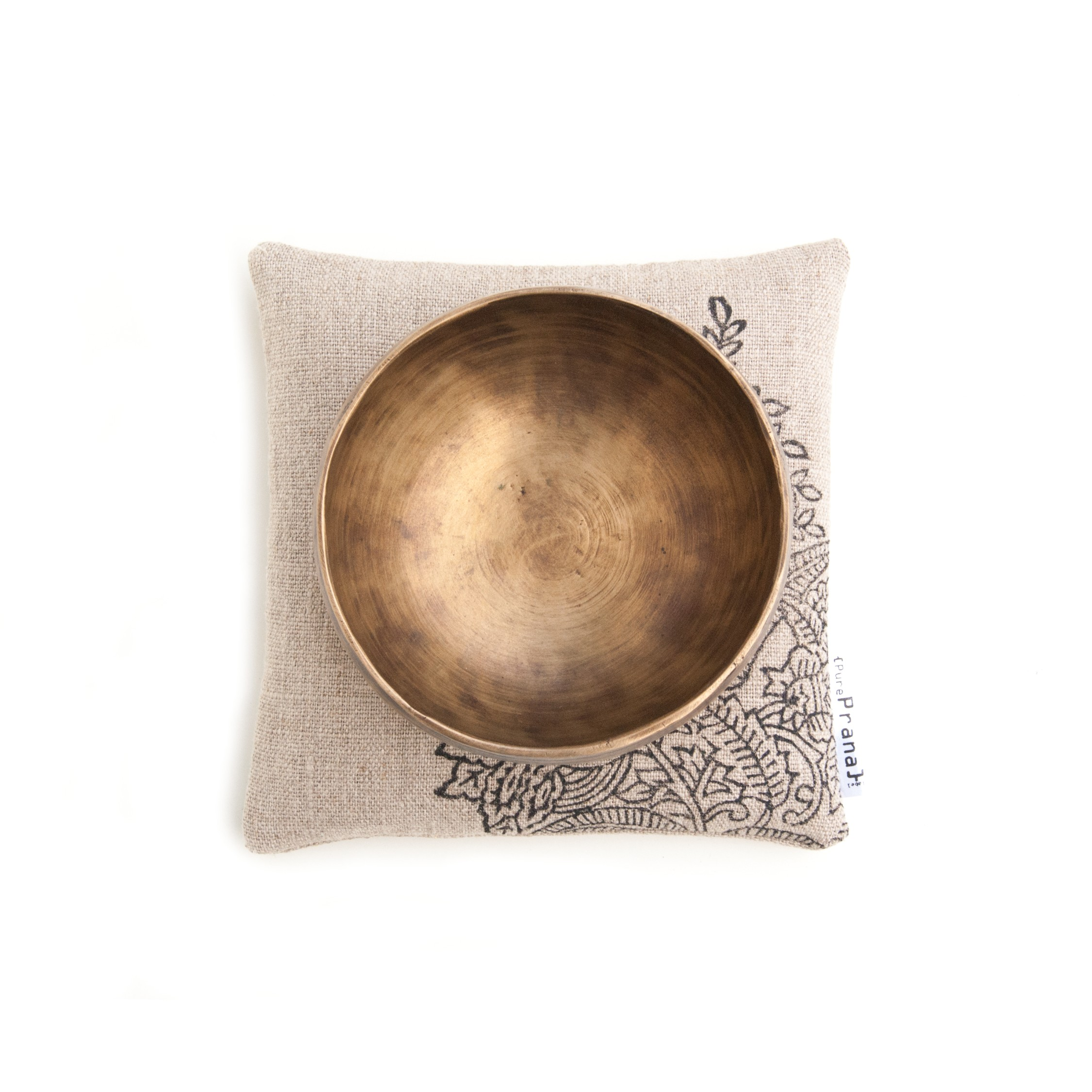 Top view singing bowl cushion