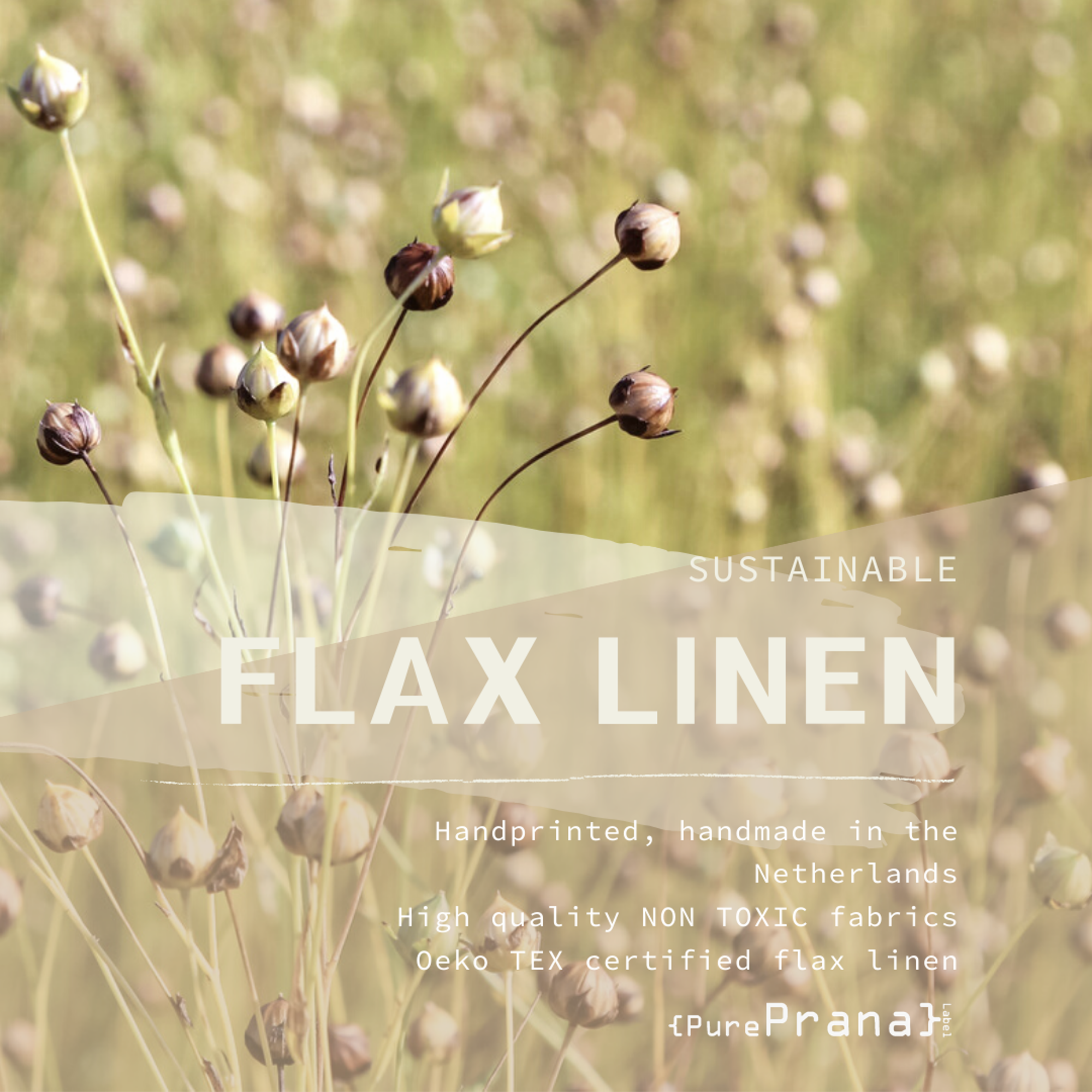 Flax linen, sustainable and eco friendly
