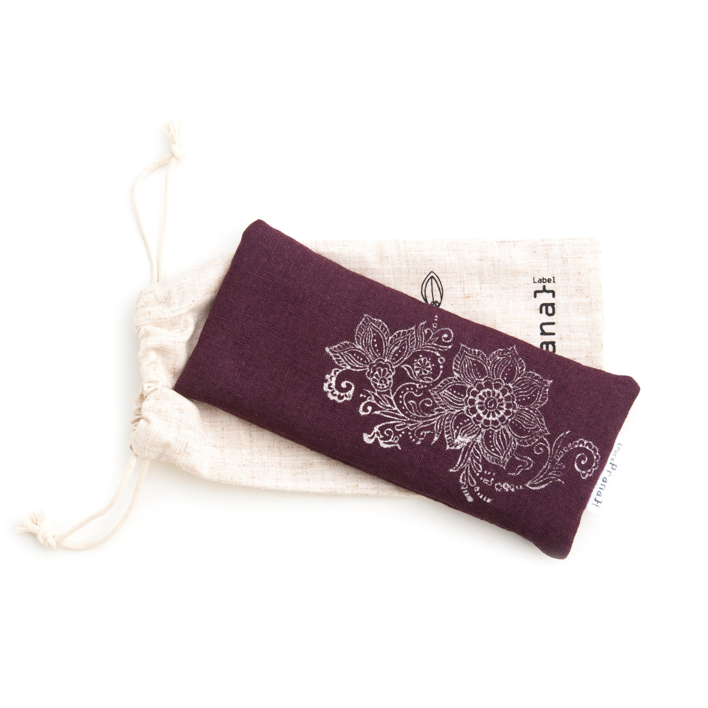 yoga eye pillow in egg plant