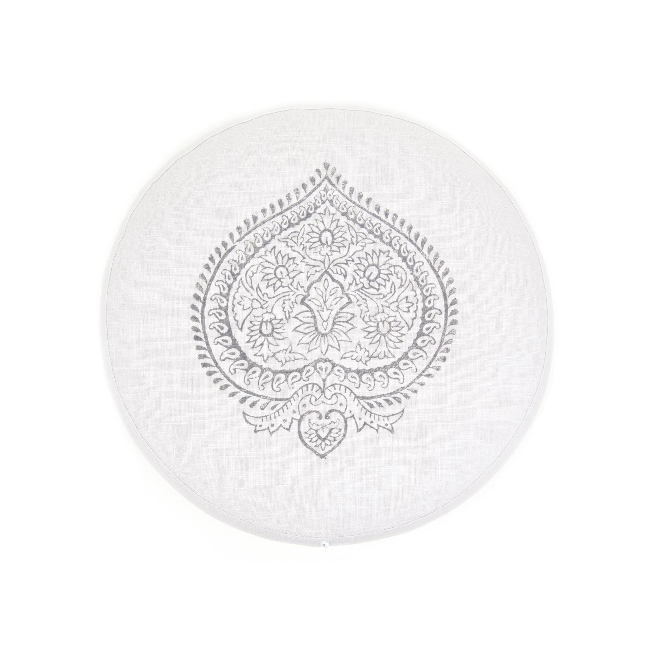 Einzigartiges Meditationskissen, pastellgrau, 100% Leinen