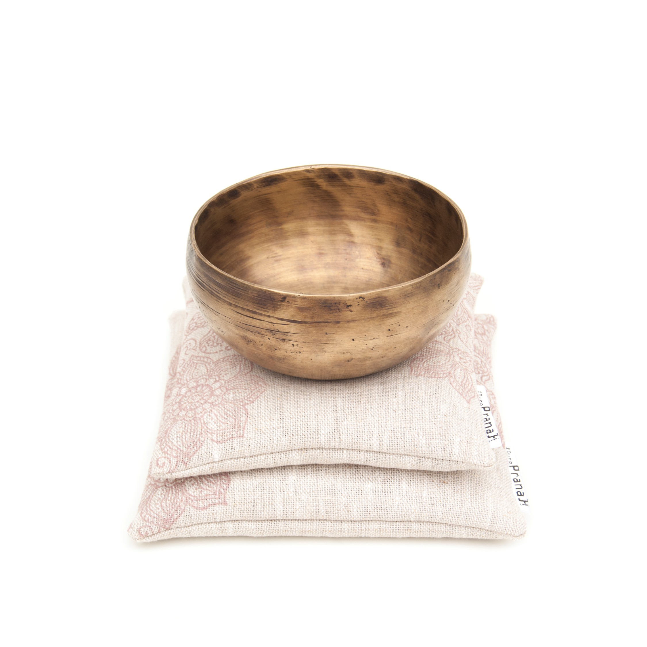 Natural singing bowl cushion