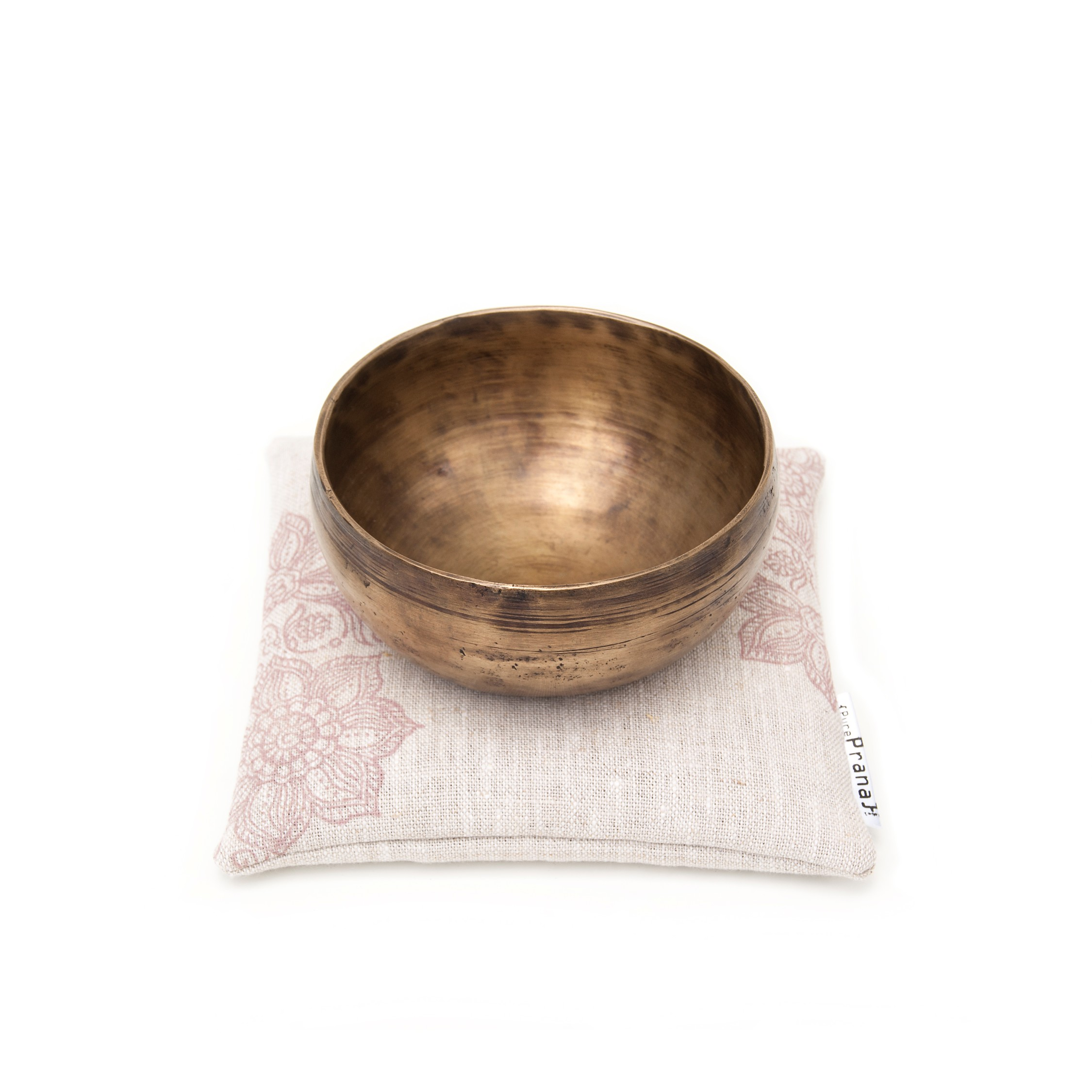 Stunning and unique natural singing bowl cushion