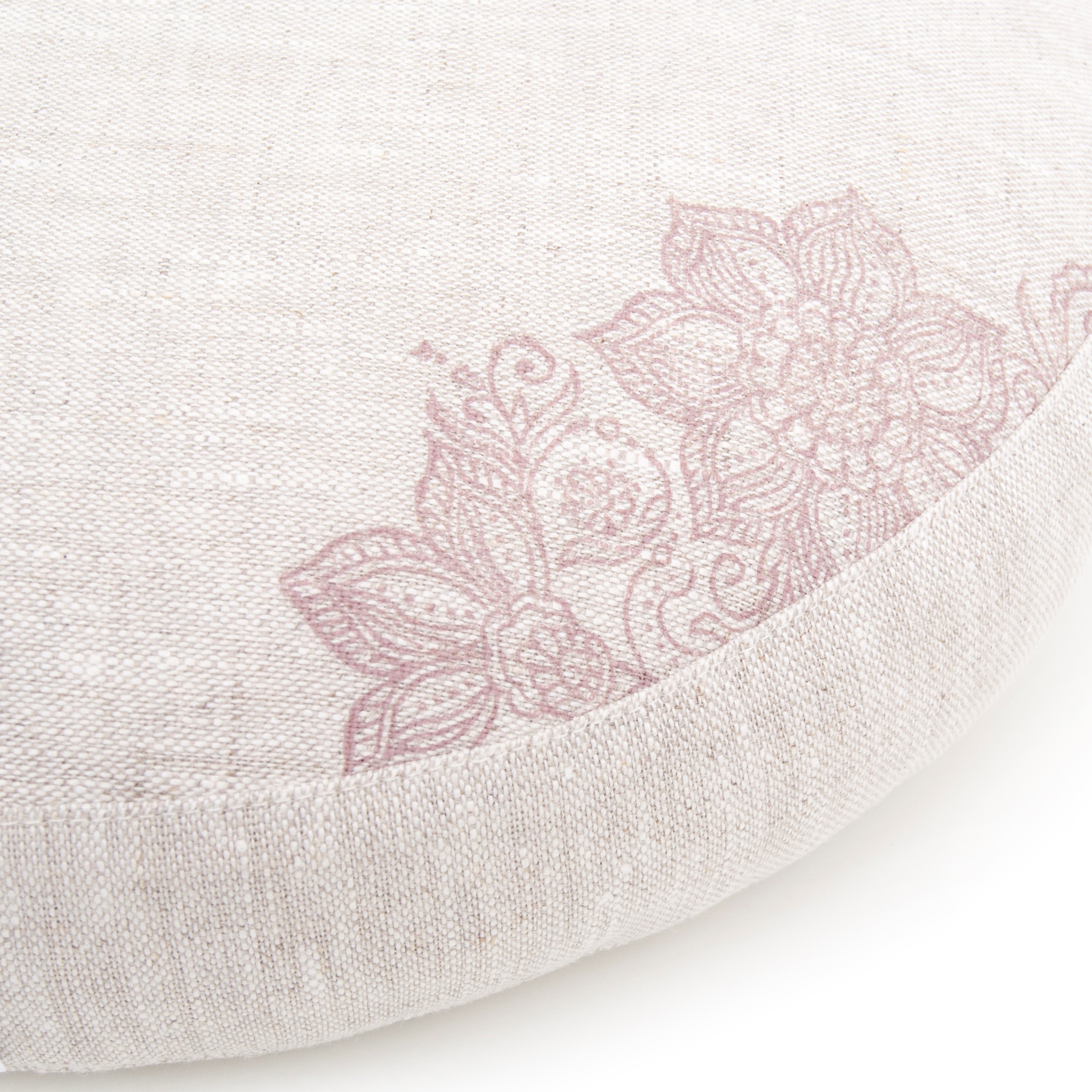 Meditation cushion, natural flax linen.