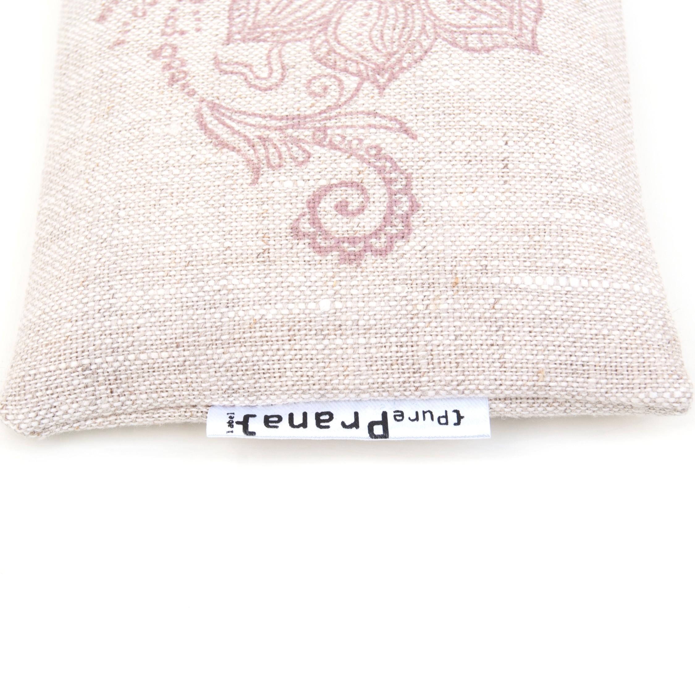 crystal eye pillow for yoga and meditation