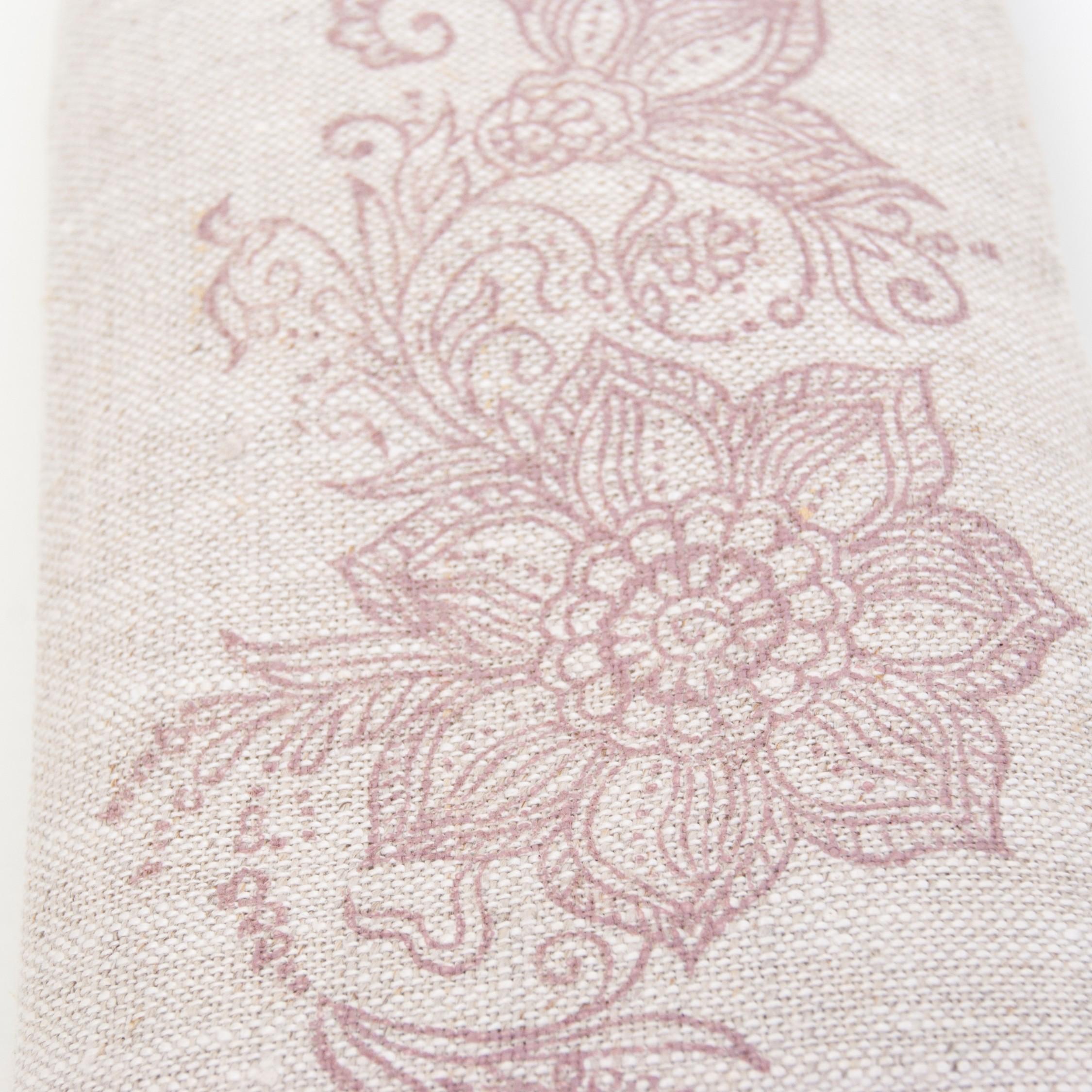 Handprinted lavender eye pillow Mehndi