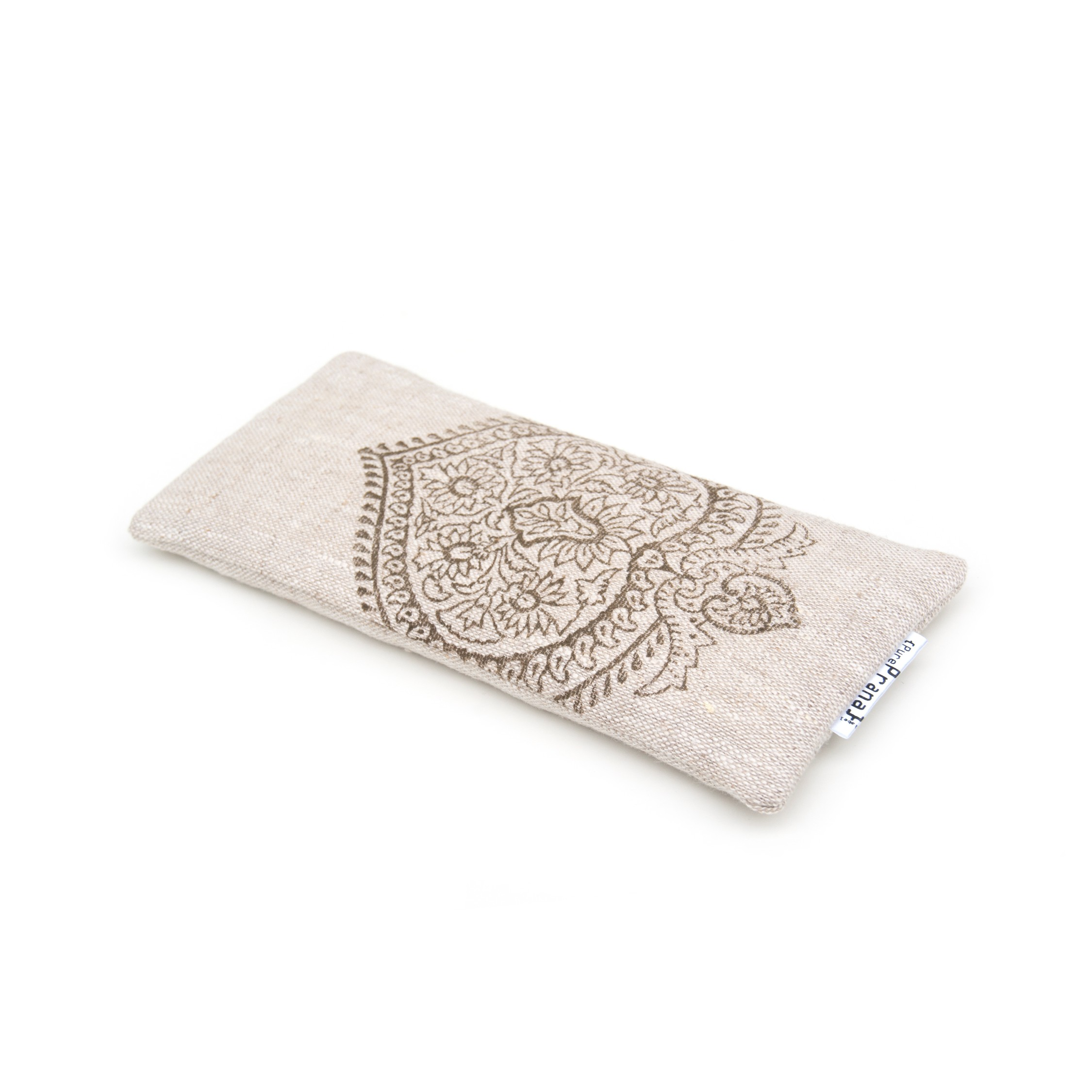 Eye pillow for savasana, in natural flax linen. Washable.