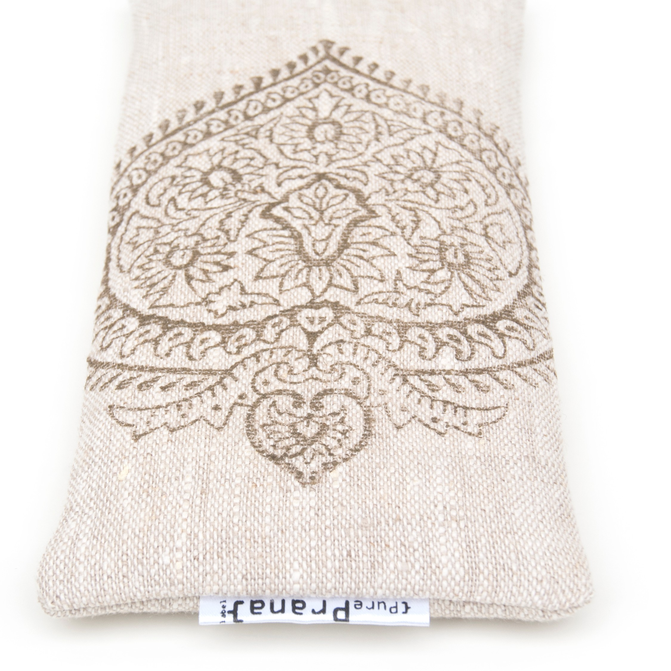 Great detail in the crystal eye pillow by Pure Prana Label