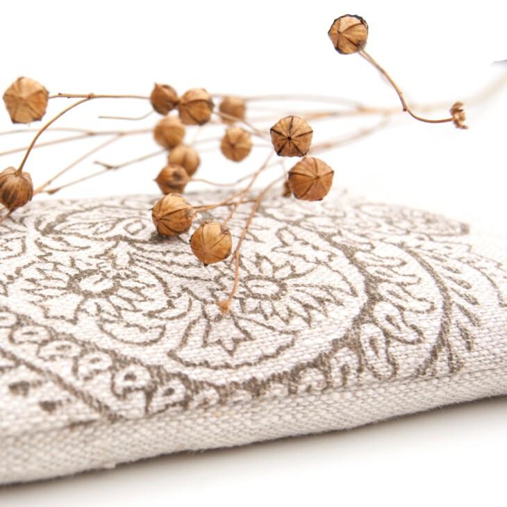 Flax linen eye pillow