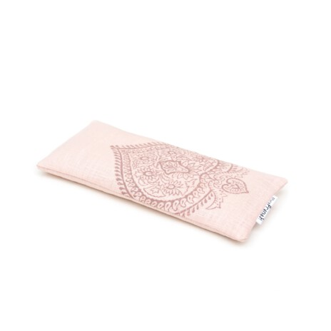 Rose quartz filled eye pillow for yoga and meditation