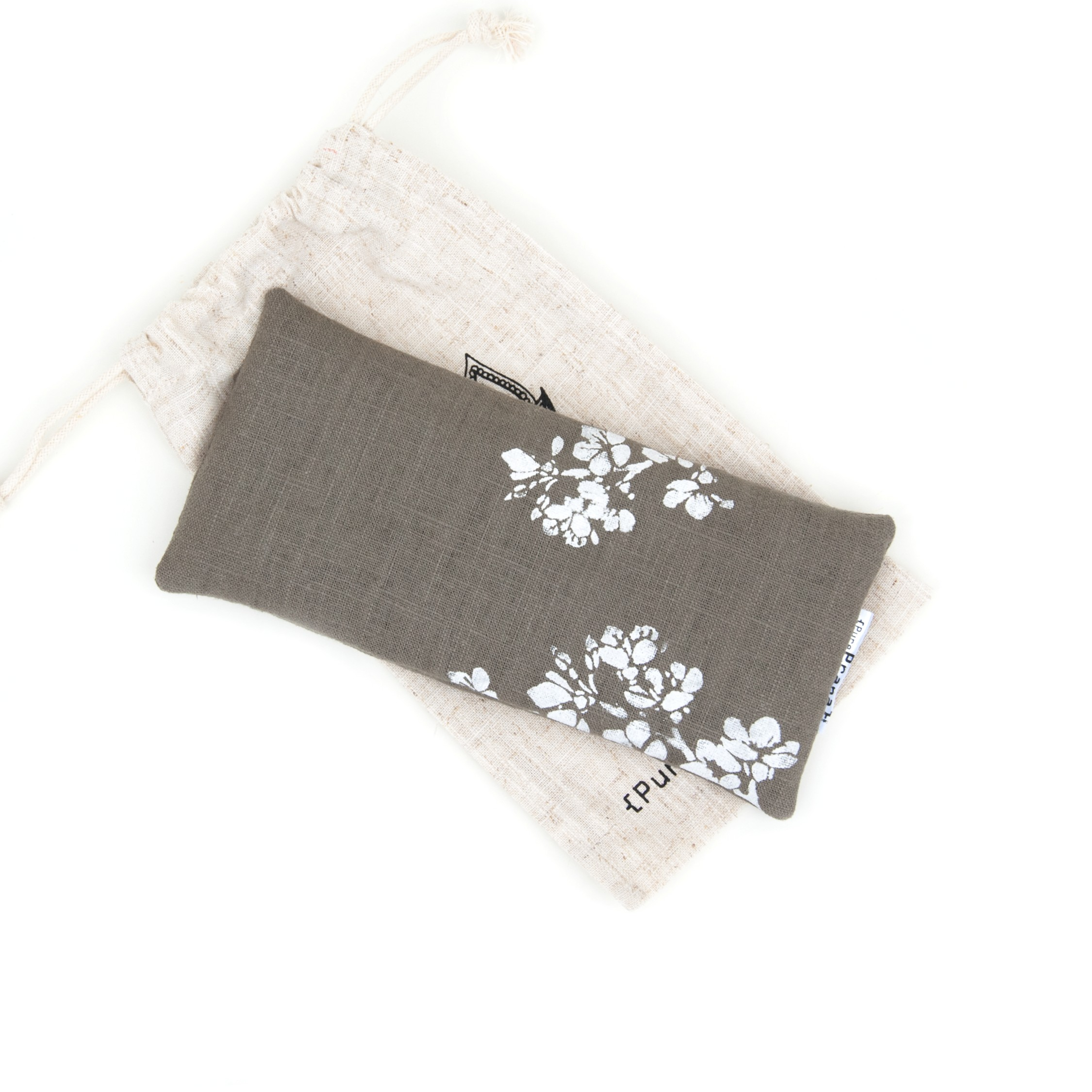 Eye pillow cherry blossom in olive green