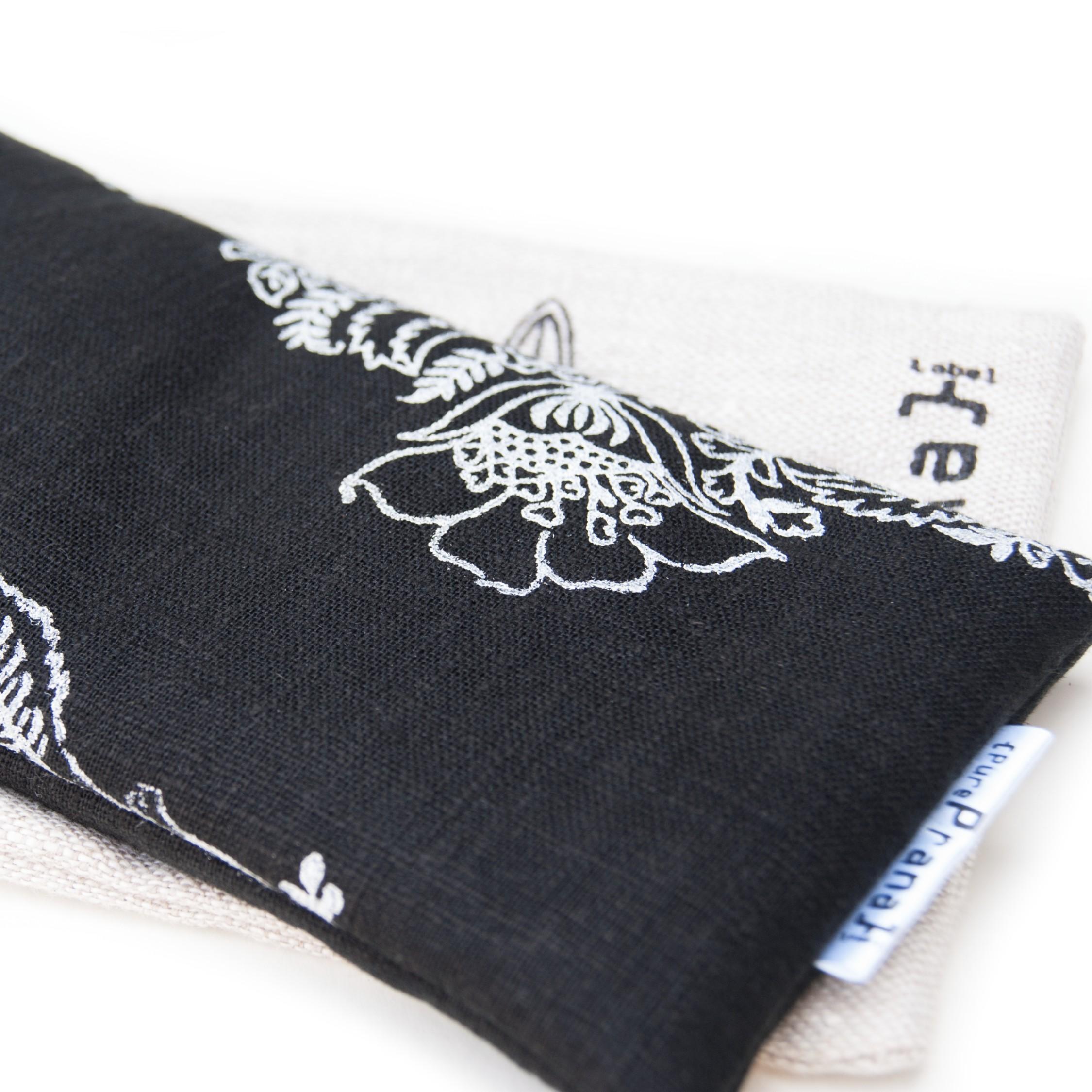 Eye pillow for meditation in black