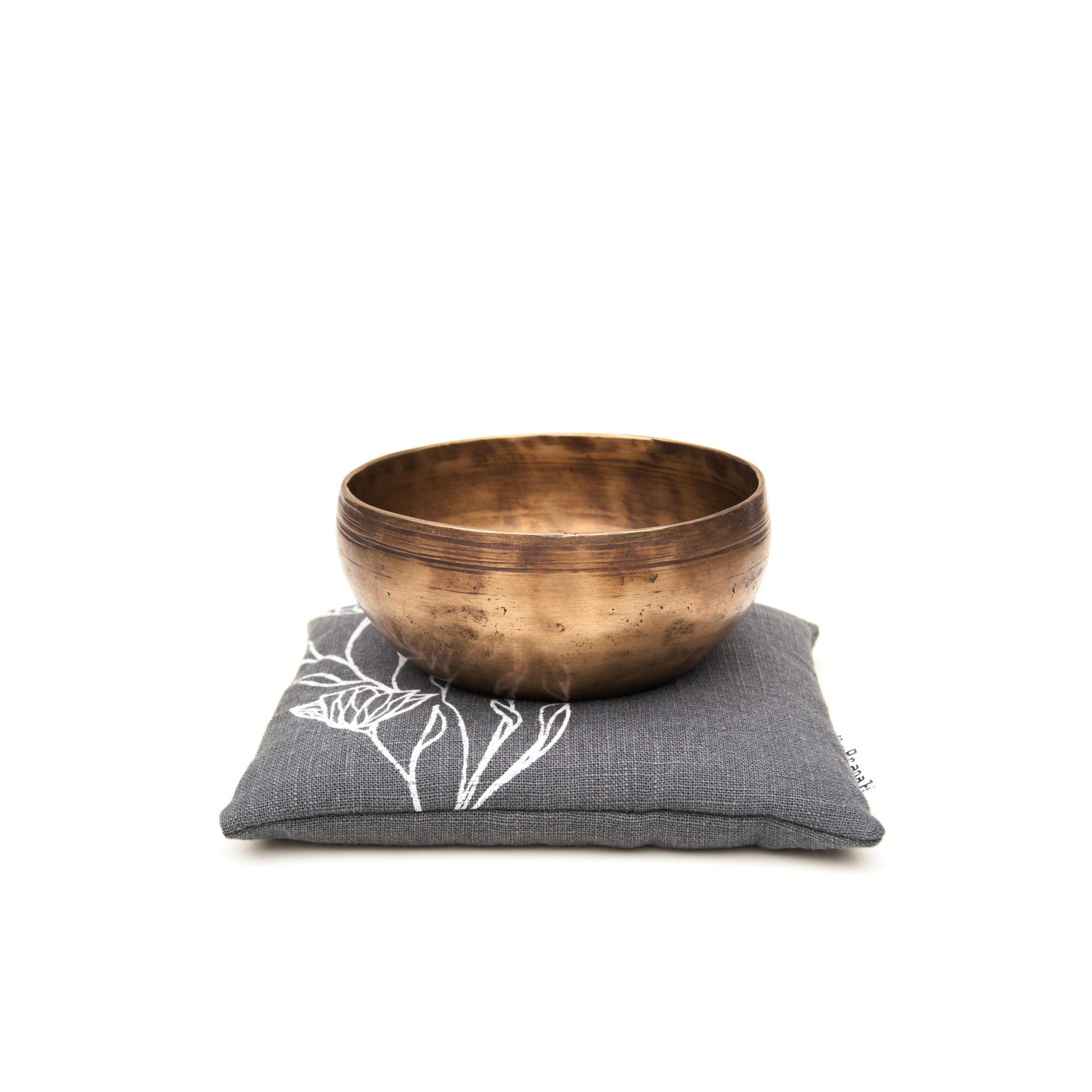 Floral singing bowl pillow