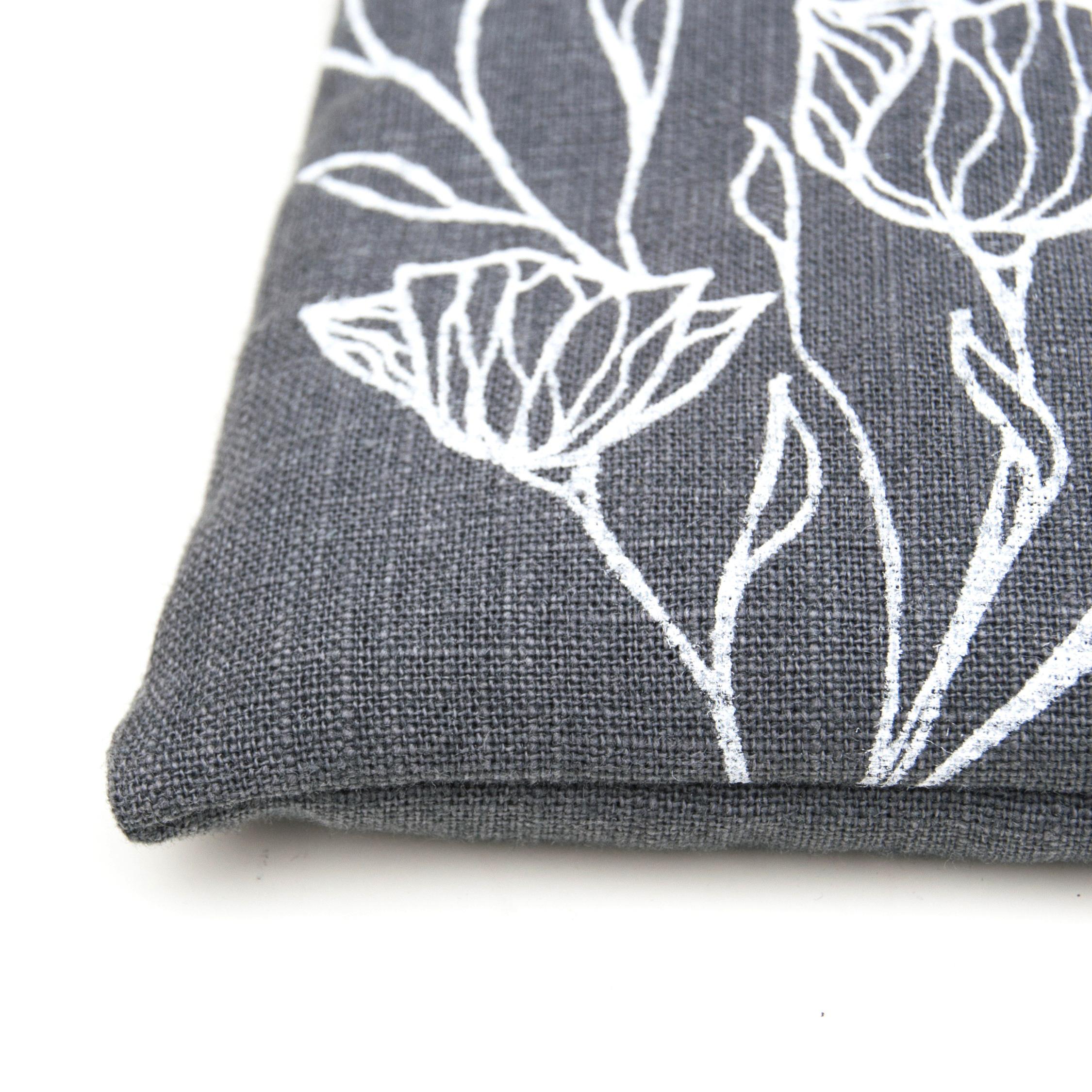 Detail of the Wild flower singing bowl cushion