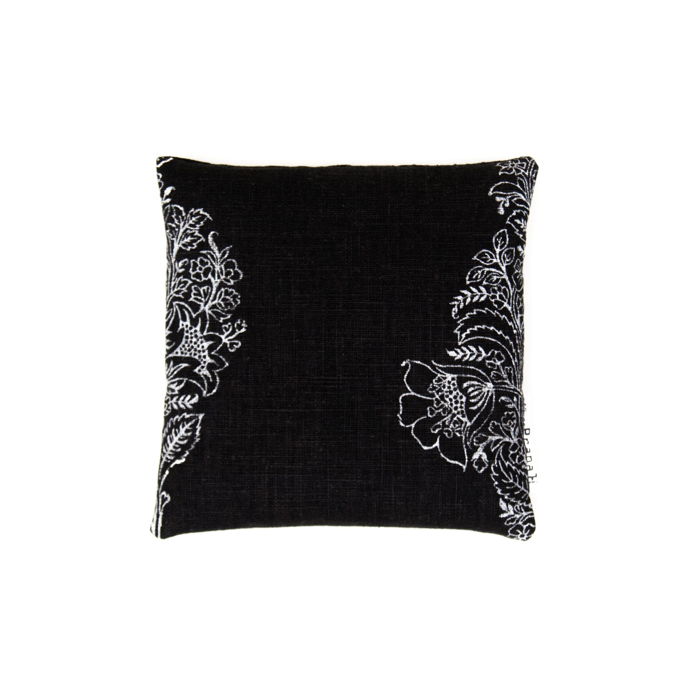 black singing bowl pillow