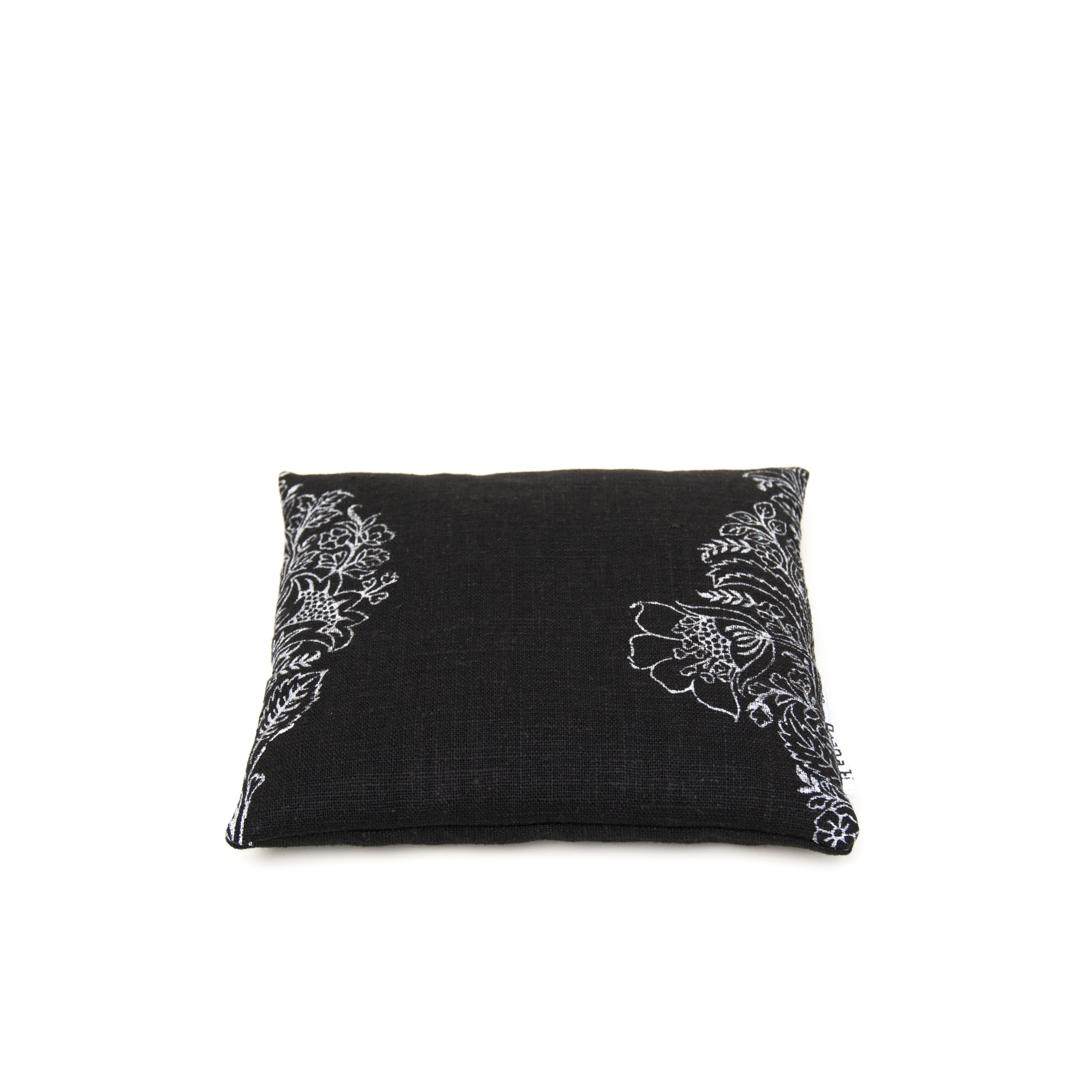 black flax linen singing bowl cushion