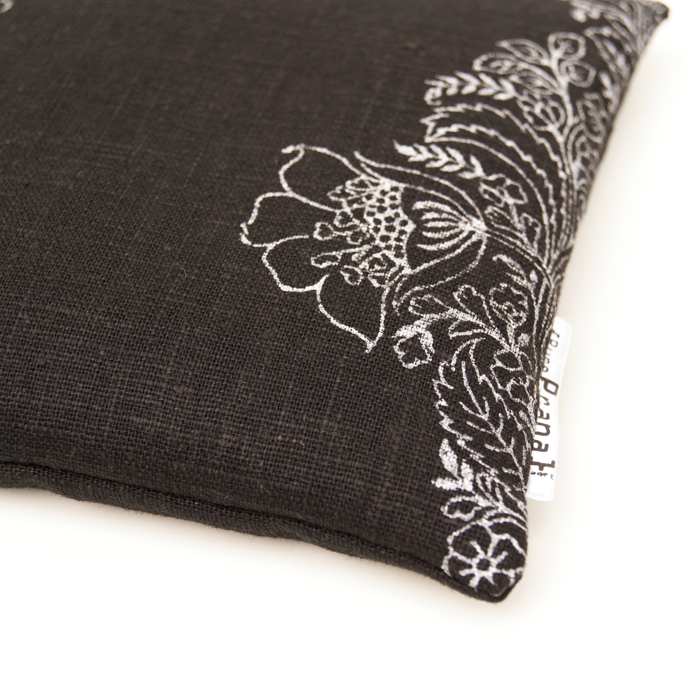 singing bowl cushion in black